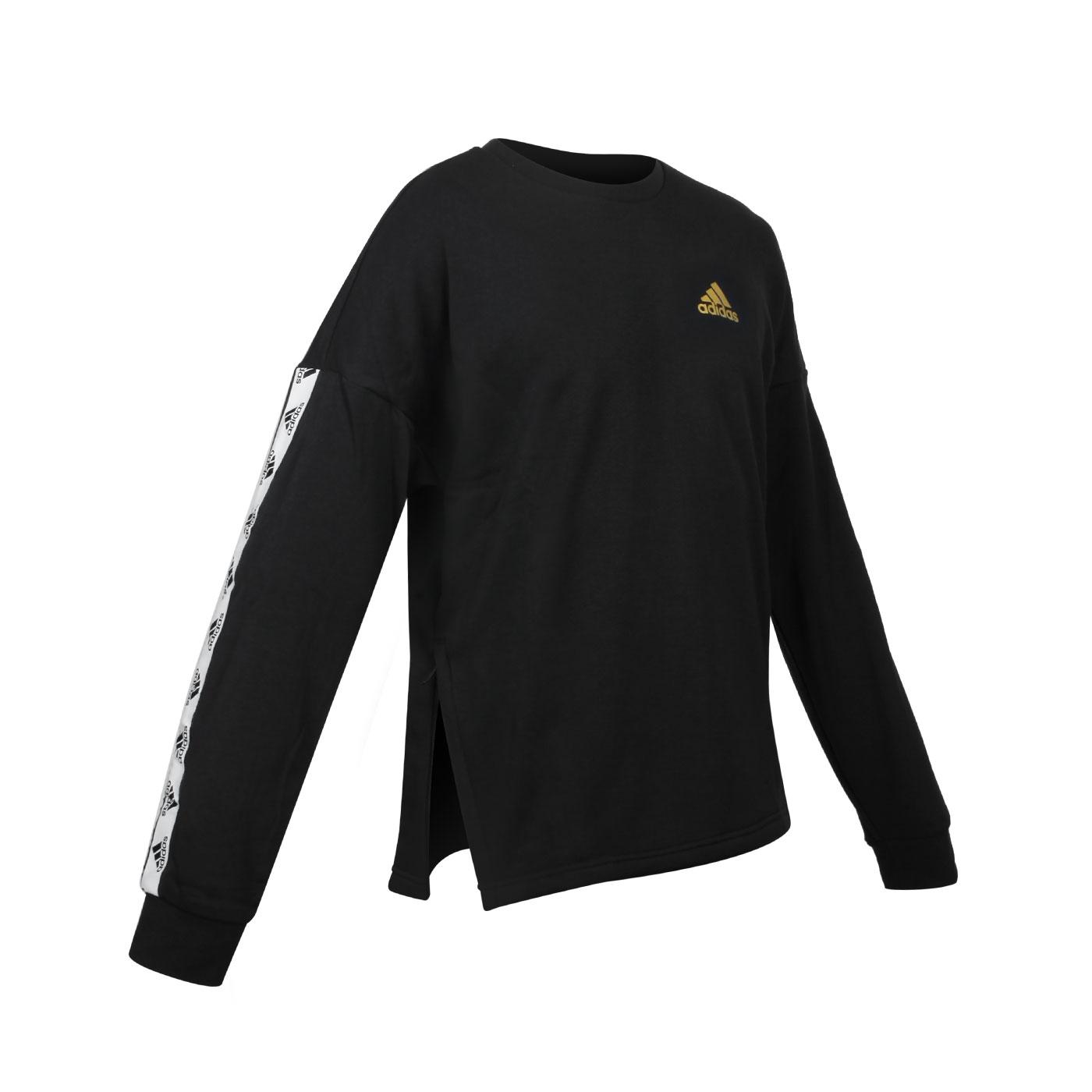 ADIDAS 男款長袖T恤 GL2215 - 黑金