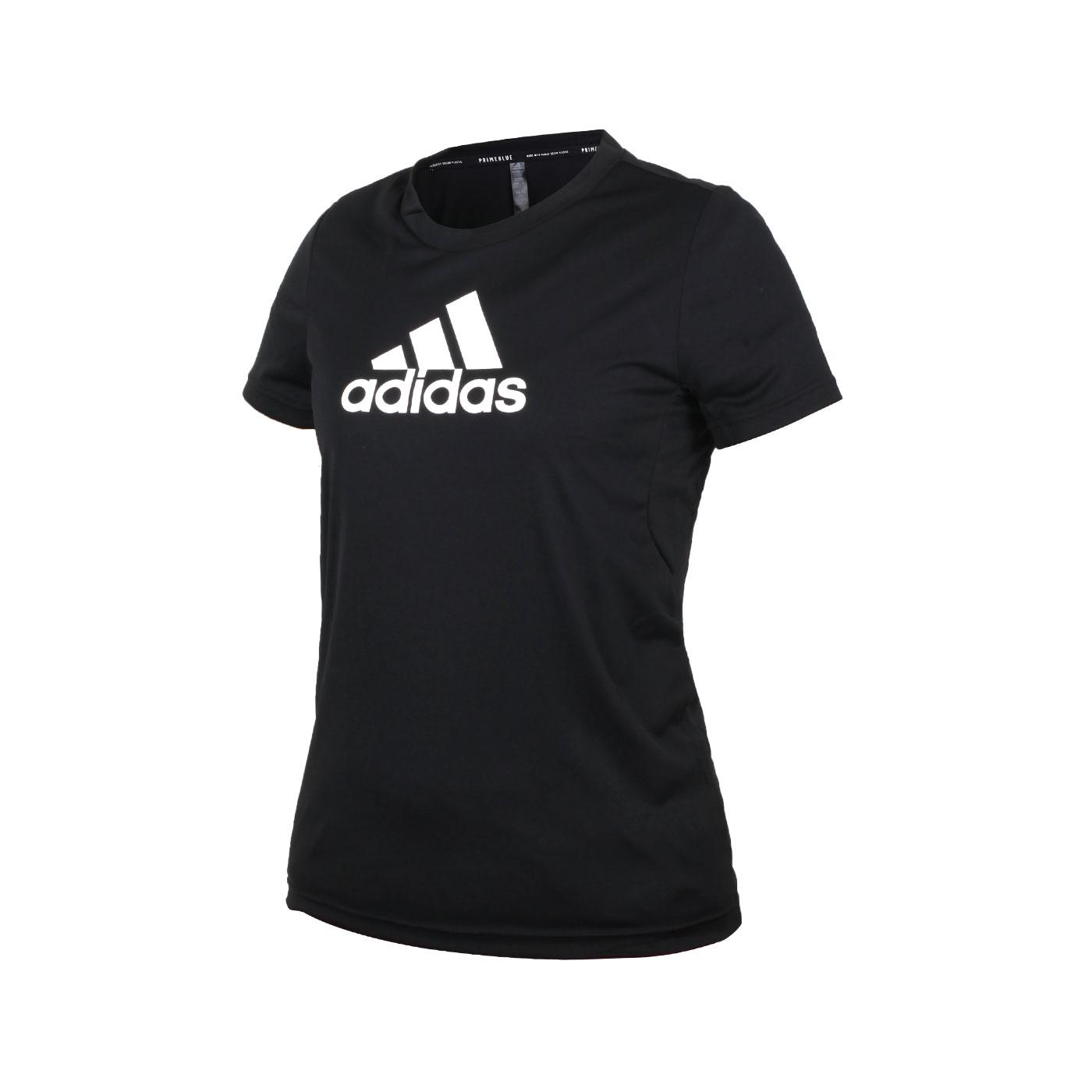 ADIDAS 女款短袖T恤 GL3820 - 黑白