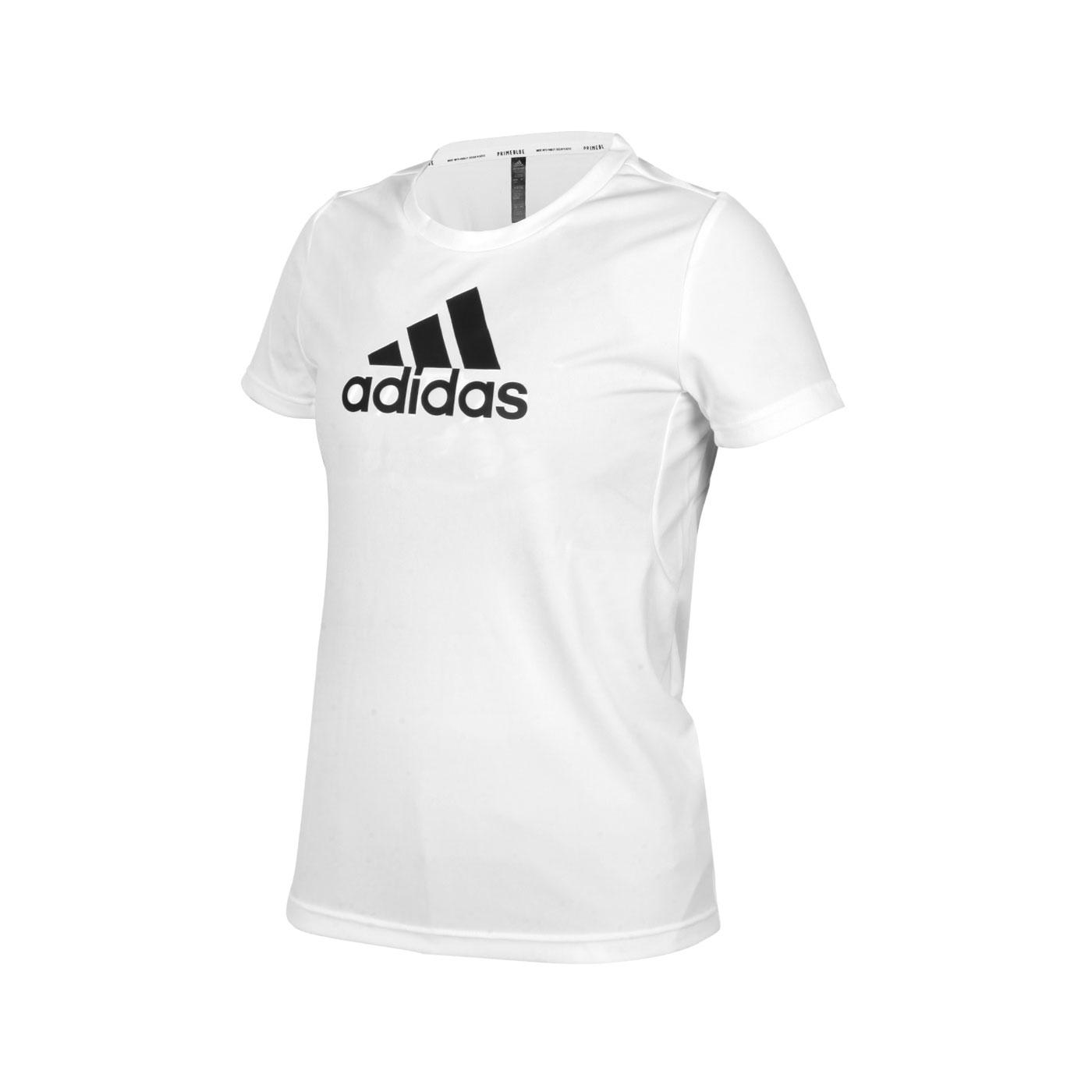 ADIDAS 女款短袖T恤 GL3821 - 白黑