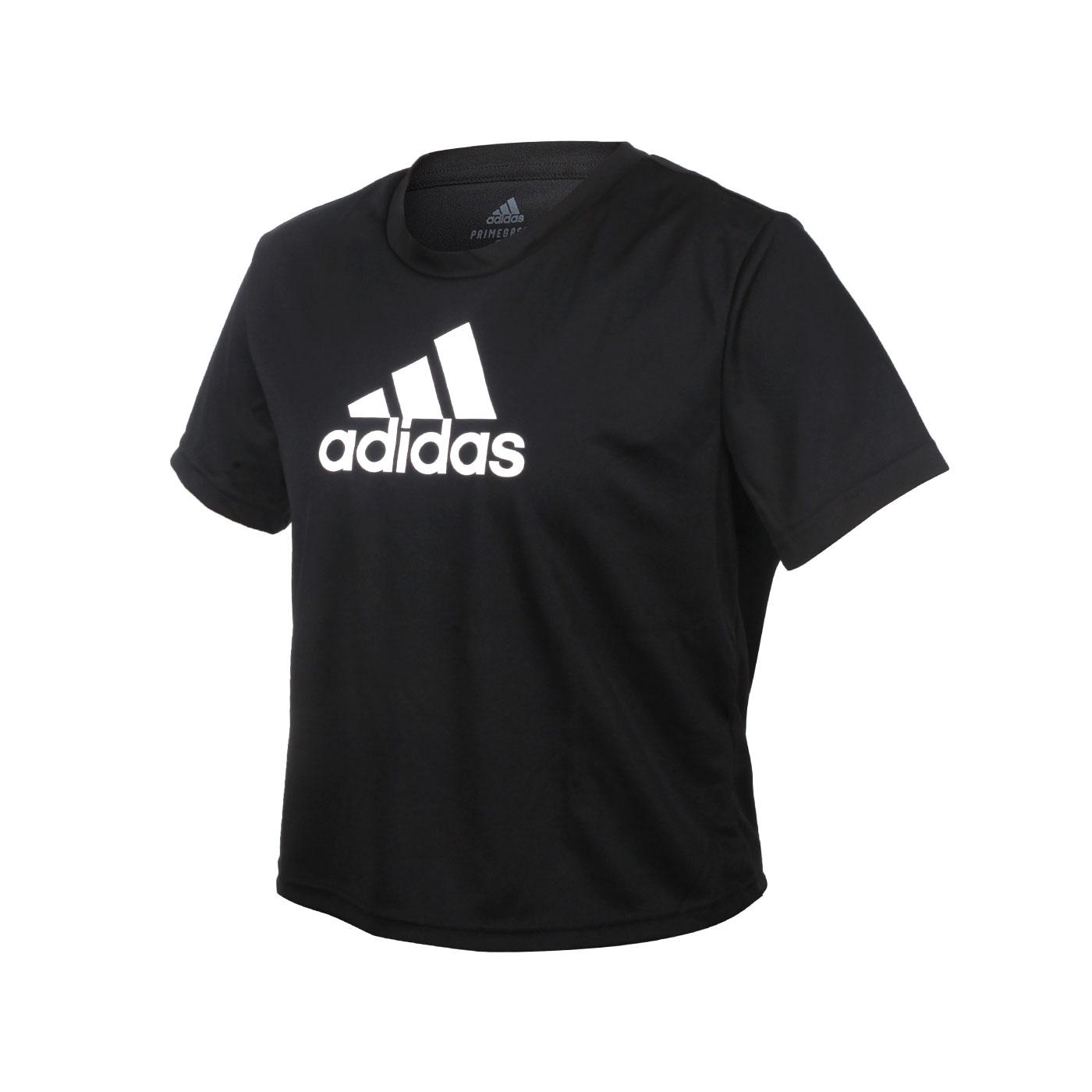ADIDAS 女款短袖T恤 GL3830 - 黑白