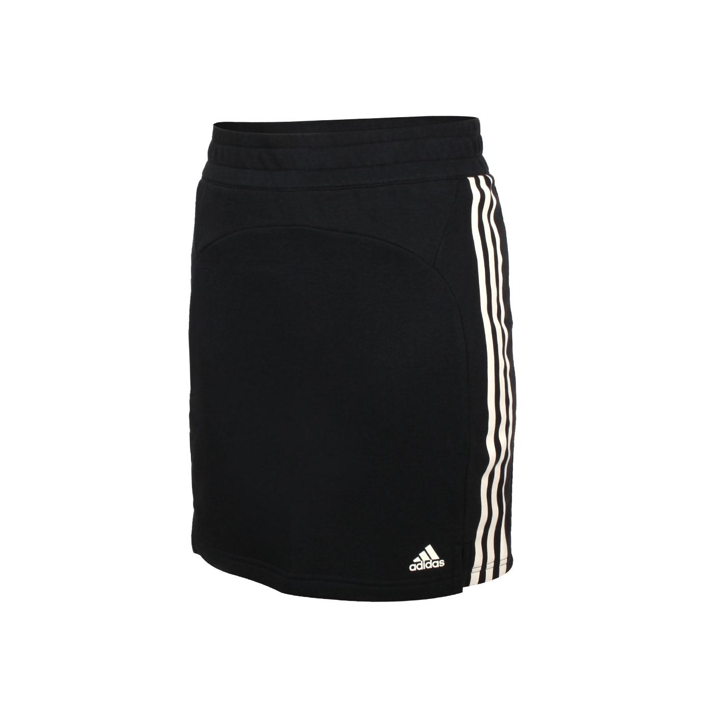 ADIDAS 女款短裙 GL3905 - 黑米白