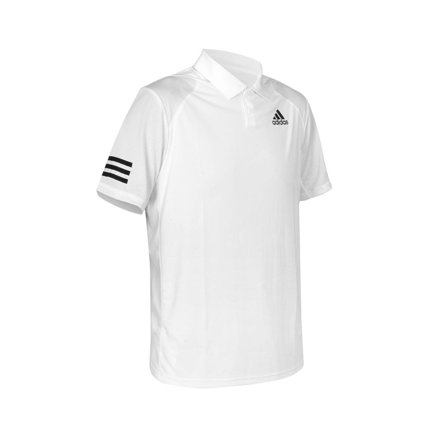 ADIDAS 男款短袖POLO衫 GL5416 - 白黑