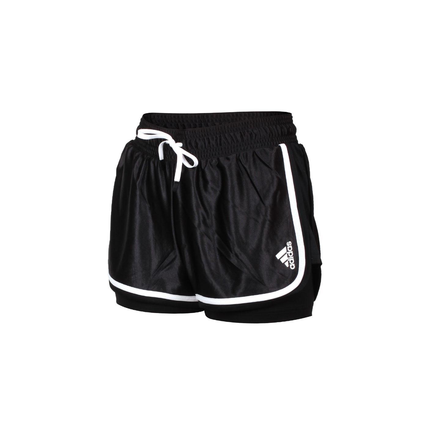 ADIDAS 女款運動短褲 GL5461 - 黑白