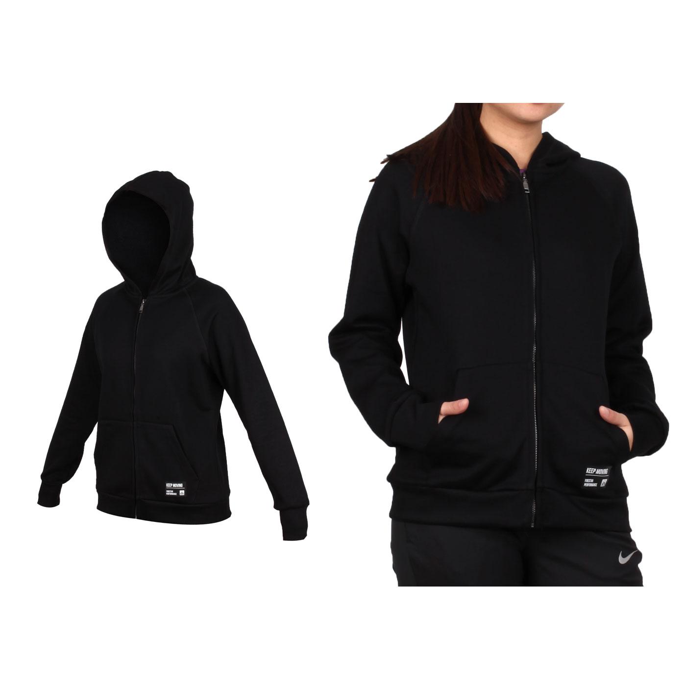 FIRESTAR 女款太空棉連帽外套 GL919-10 - 黑