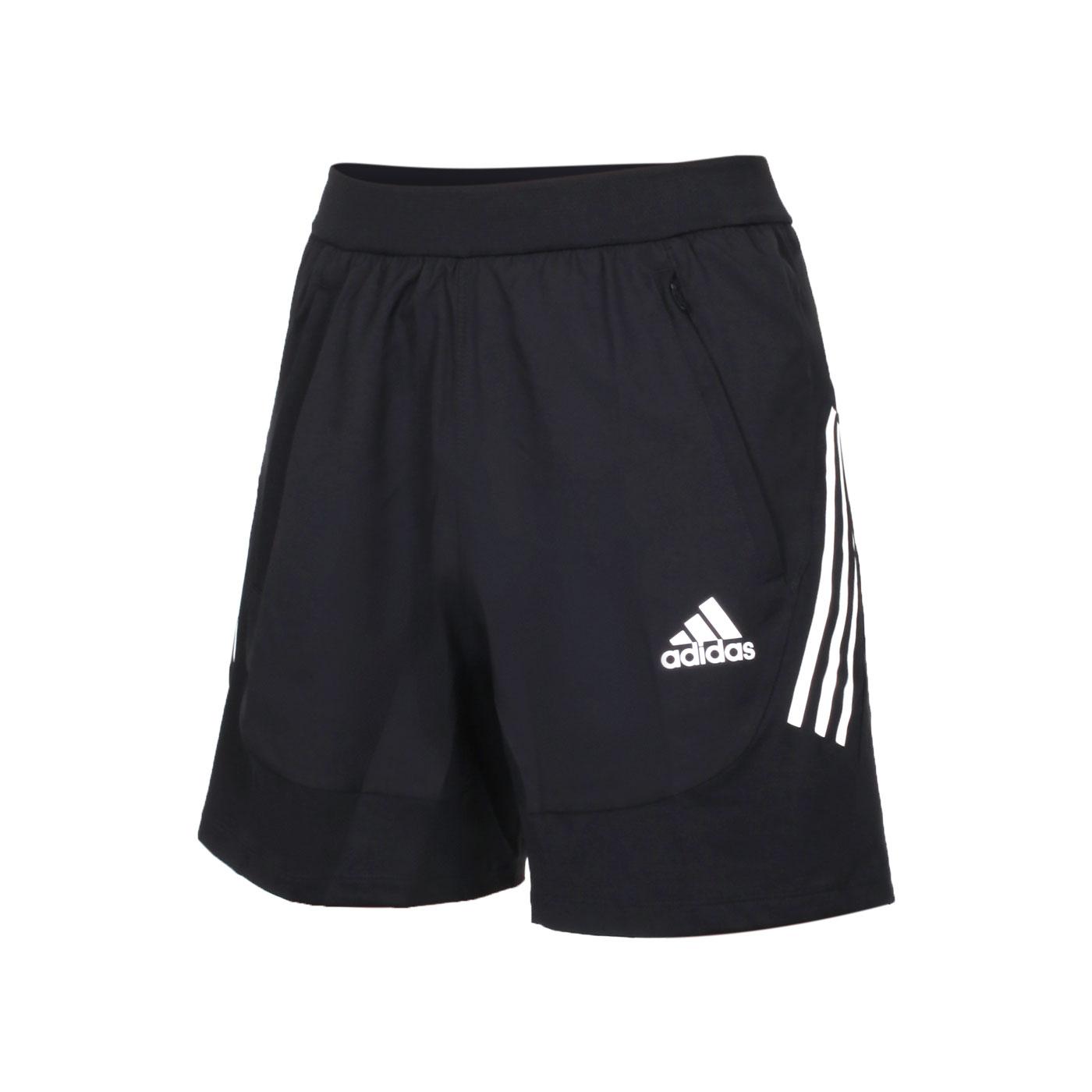 ADIDAS 男款運動短褲 GM0332 - 黑白
