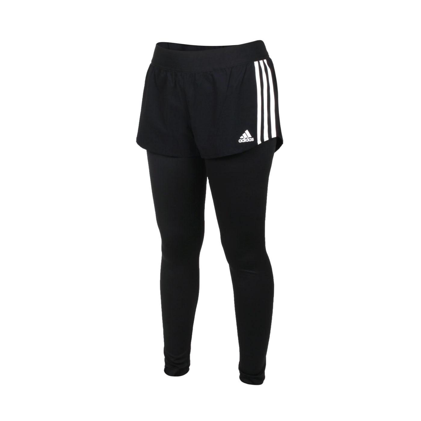 ADIDAS 女款緊身長褲 GM5024 - 黑白