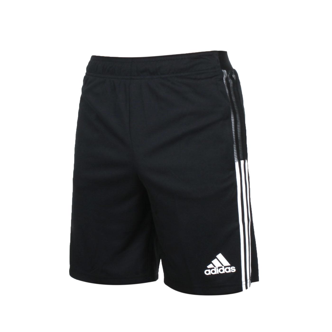 ADIDAS 大童足球短褲 GN2161 - 黑白