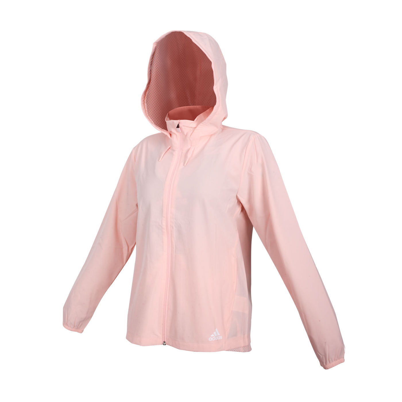 ADIDAS 女款長袖連帽外套 GQ5192 - 粉橘