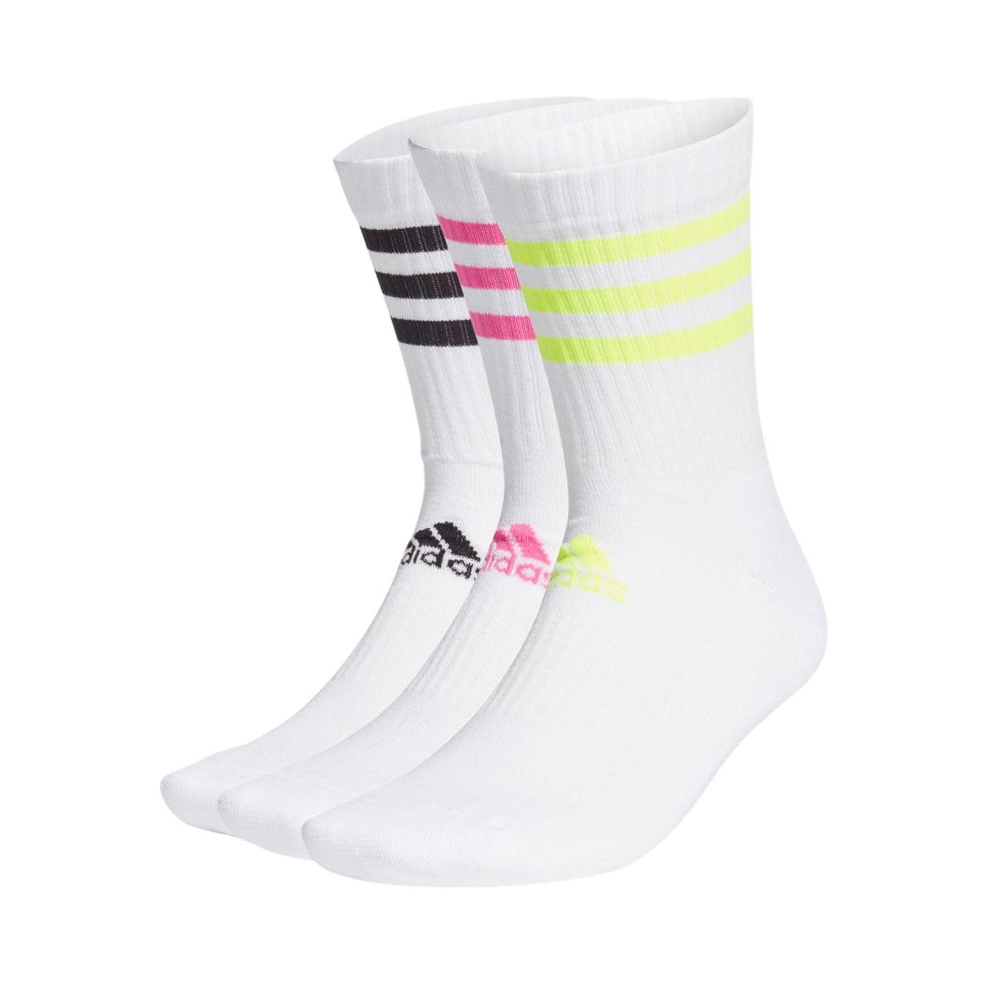 ADIDAS 襪子(三雙入) GQ5979 - 白黑粉綠