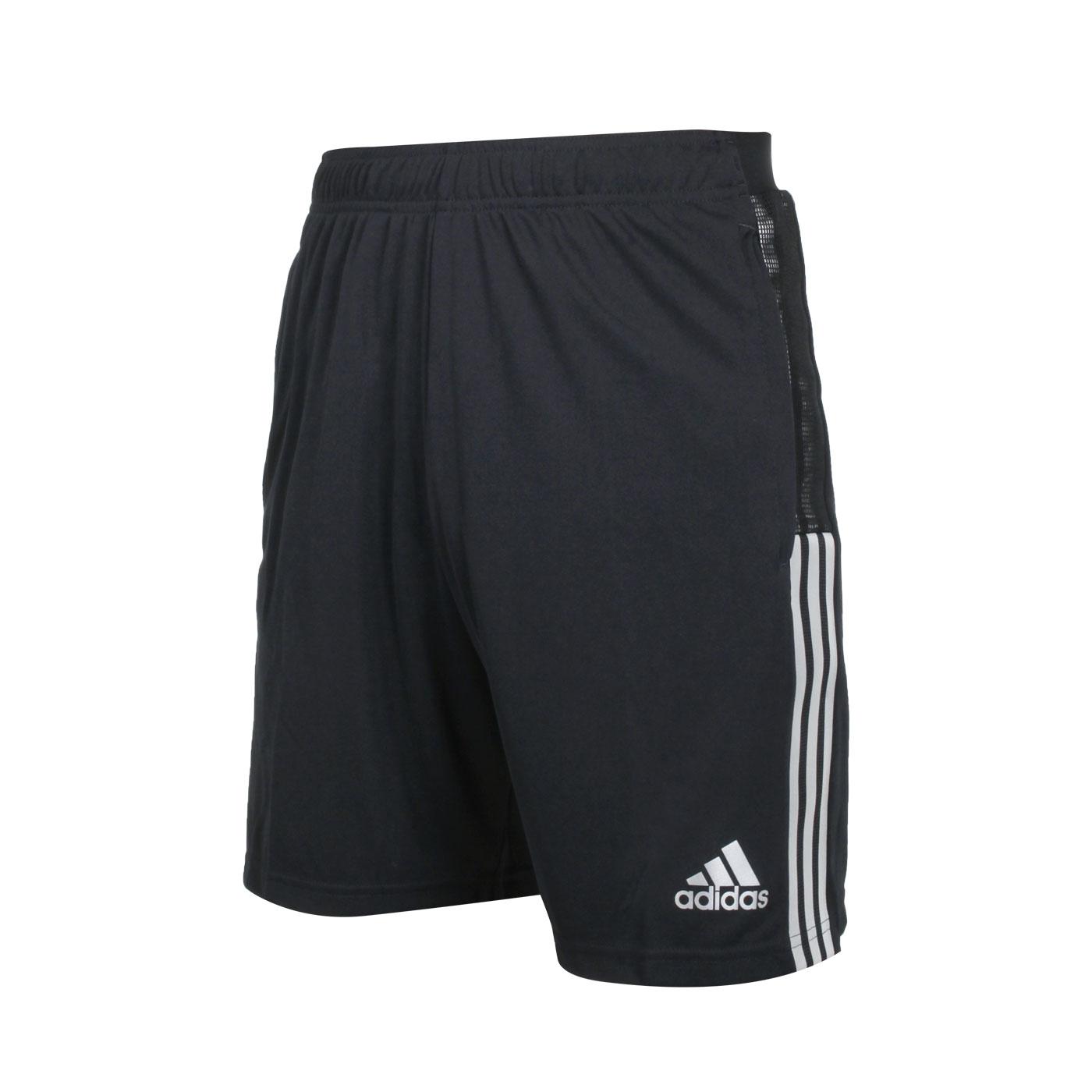 ADIDAS 男款運動短褲 GS4703 - 黑銀