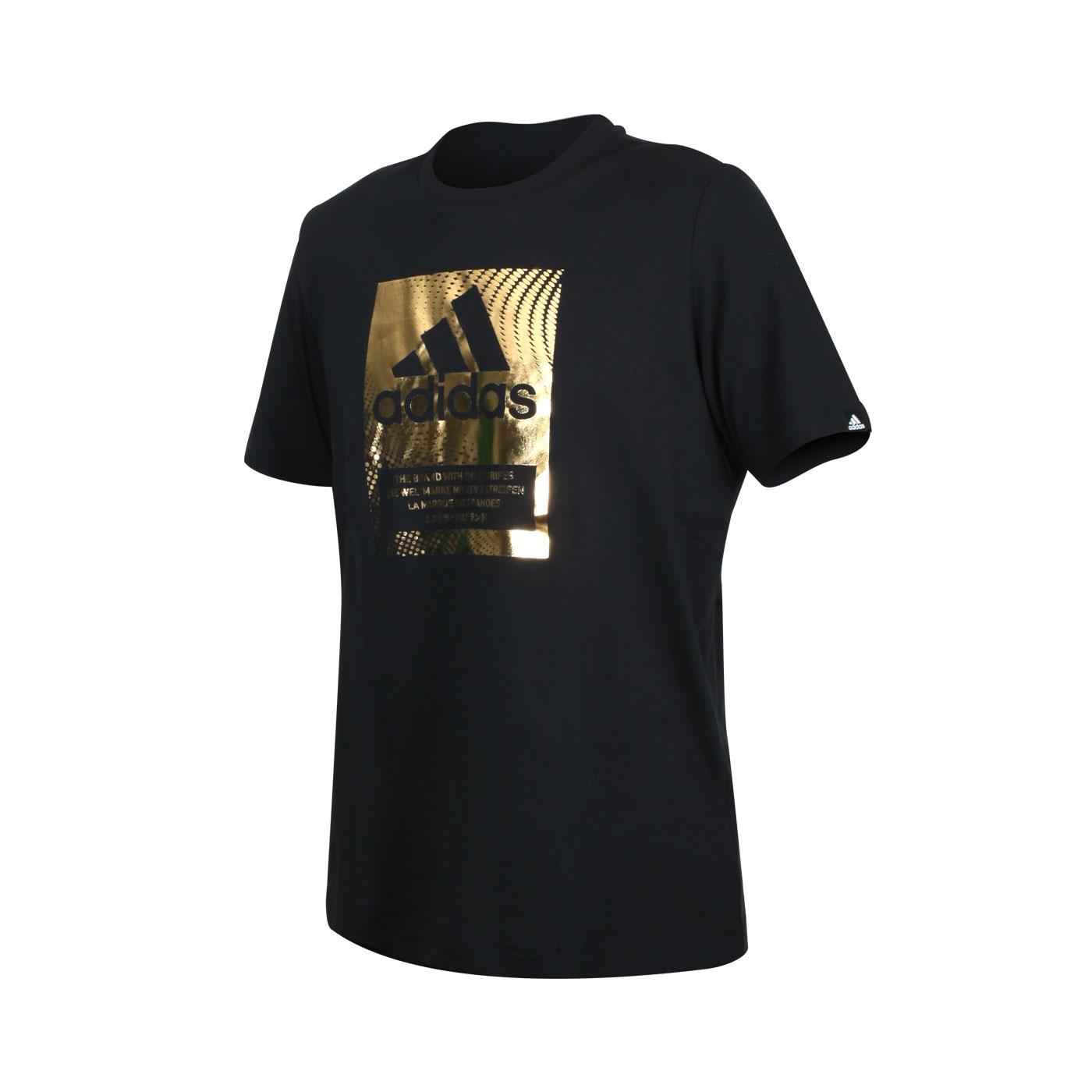 ADIDAS 男款短袖T恤 GS6316 - 黑金