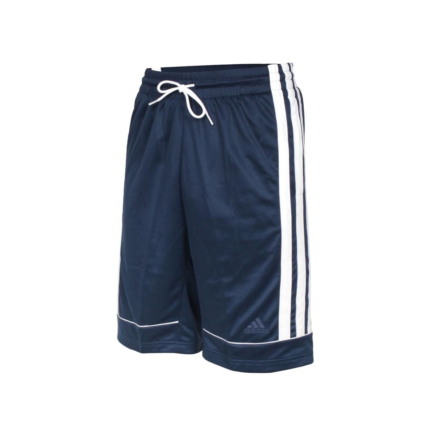 ADIDAS 男款運動短褲 GU0738 - 深藍白