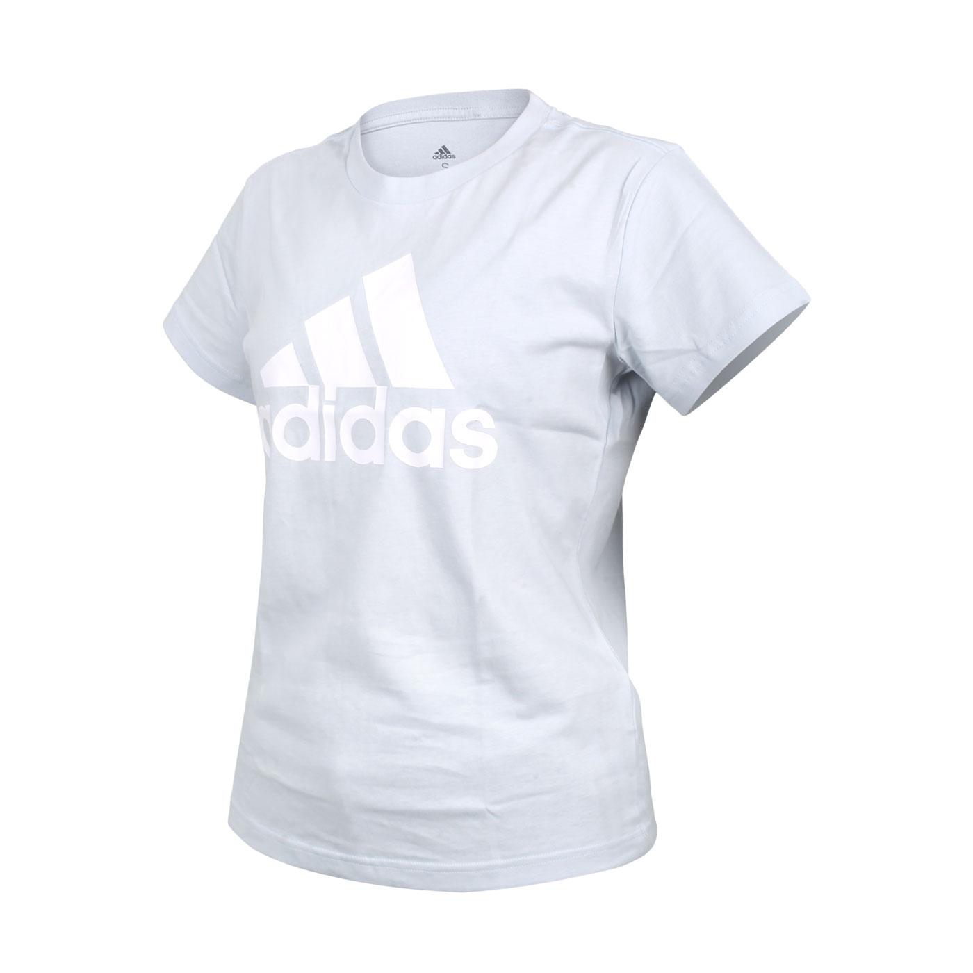 ADIDAS 女款短袖T恤 GV4029 - 淺藍白