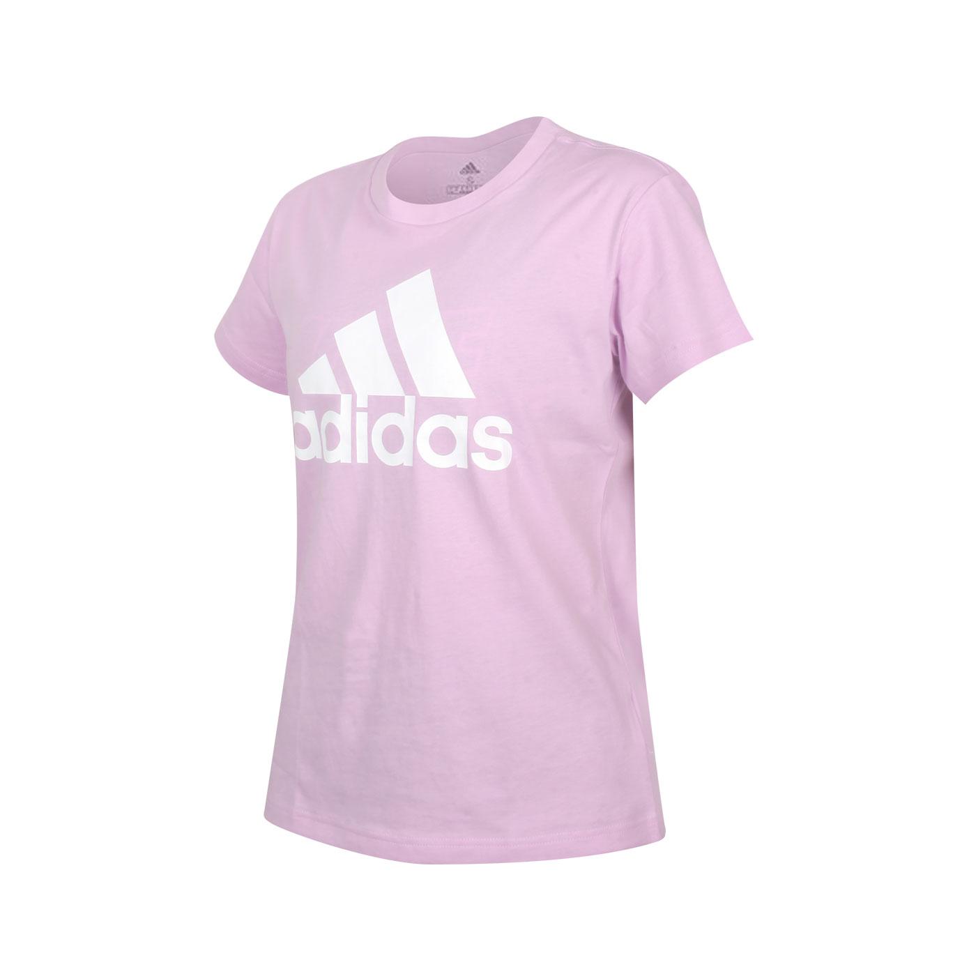 ADIDAS 女款短袖T恤 GV4030 - 粉紫白