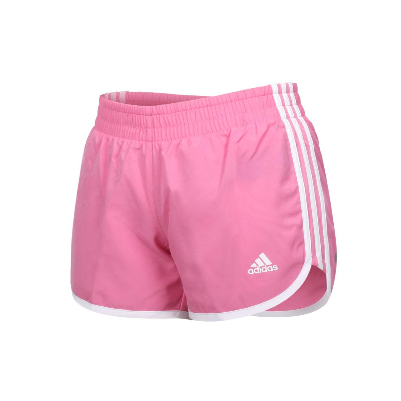 ADIDAS 女款運動短褲 H31064 - 粉紅白