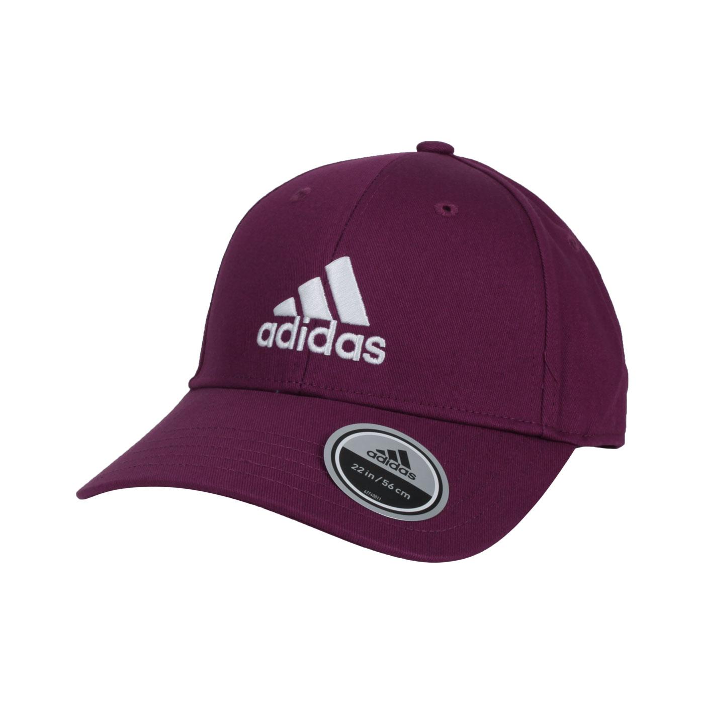 ADIDAS 棒球帽 H34475 - 酒紅白