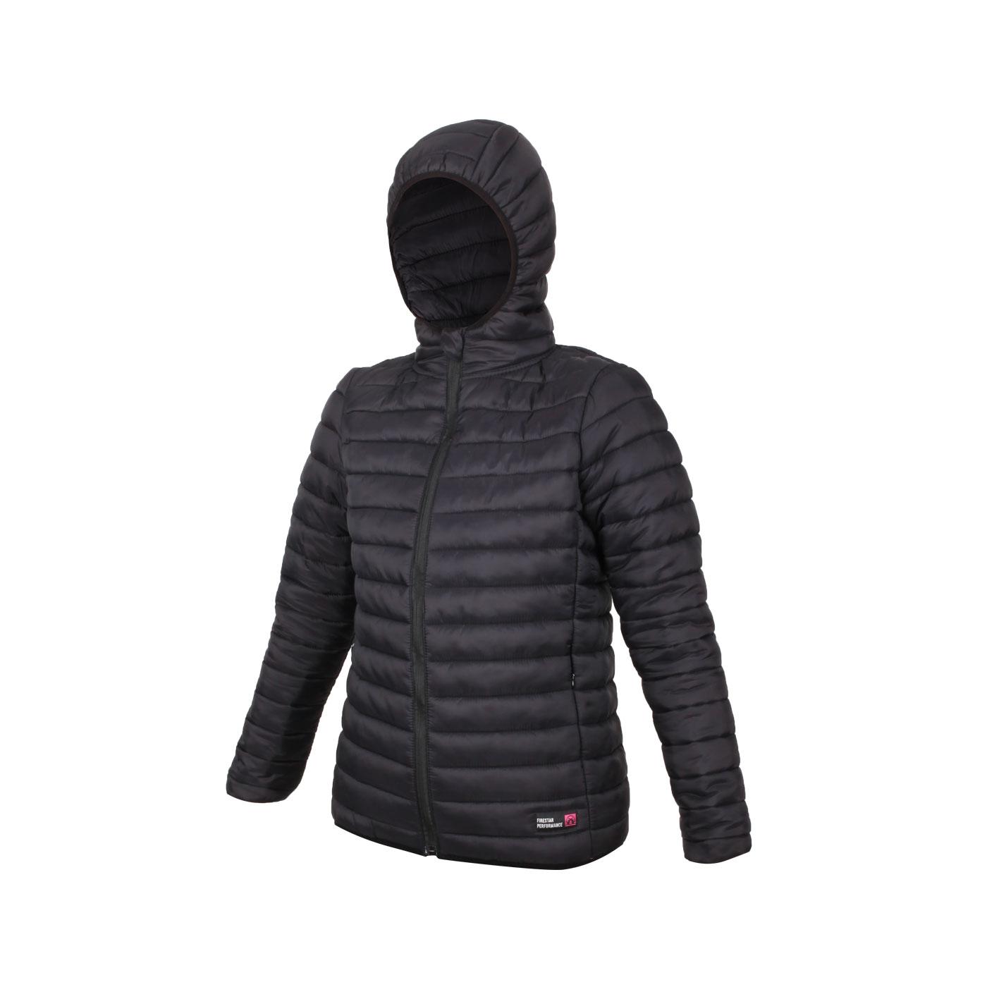 FIRESTAR 女款連帽鋪棉外套 HL038-10 - 黑