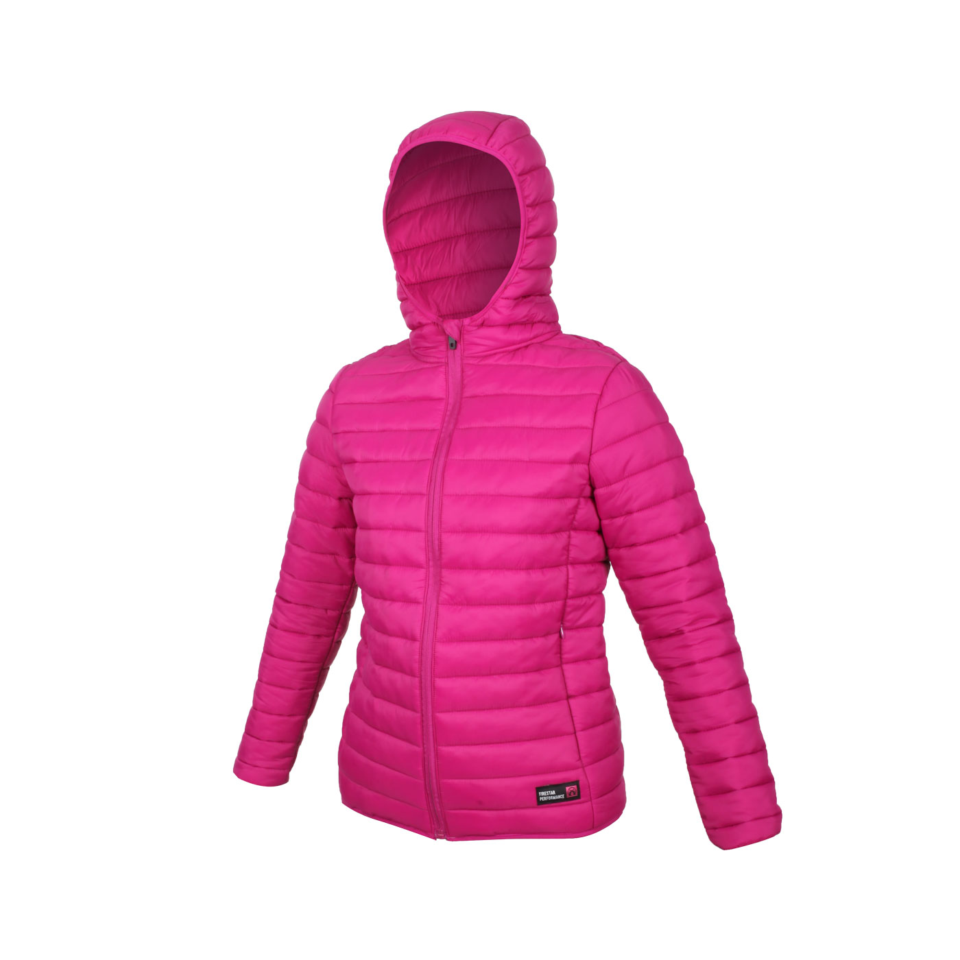 FIRESTAR 女款連帽鋪棉外套 HL038-47 - 紫桃紅