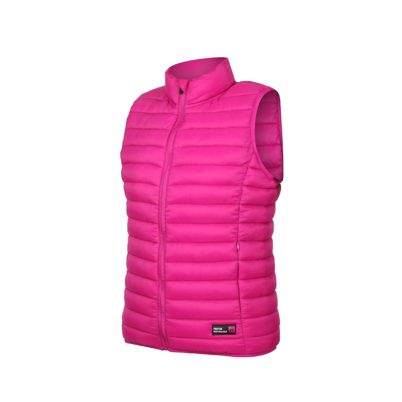 FIRESTAR 女款立領鋪棉背心 HL039-47 - 紫桃紅
