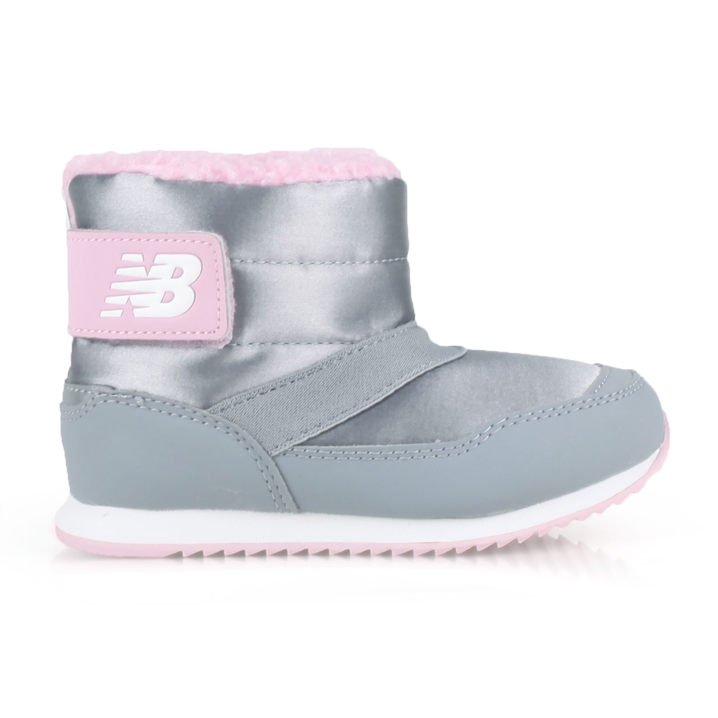 NEW BALANCE 小童保暖短筒靴-WIDE IO996BTY - 灰粉紅白