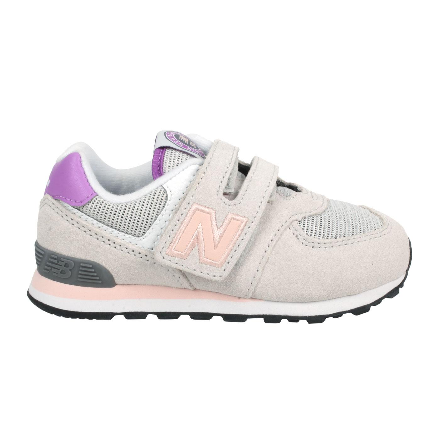 NEW BALANCE 小童休閒運動鞋-WIDE IV574HZ1 - 淺灰粉橘