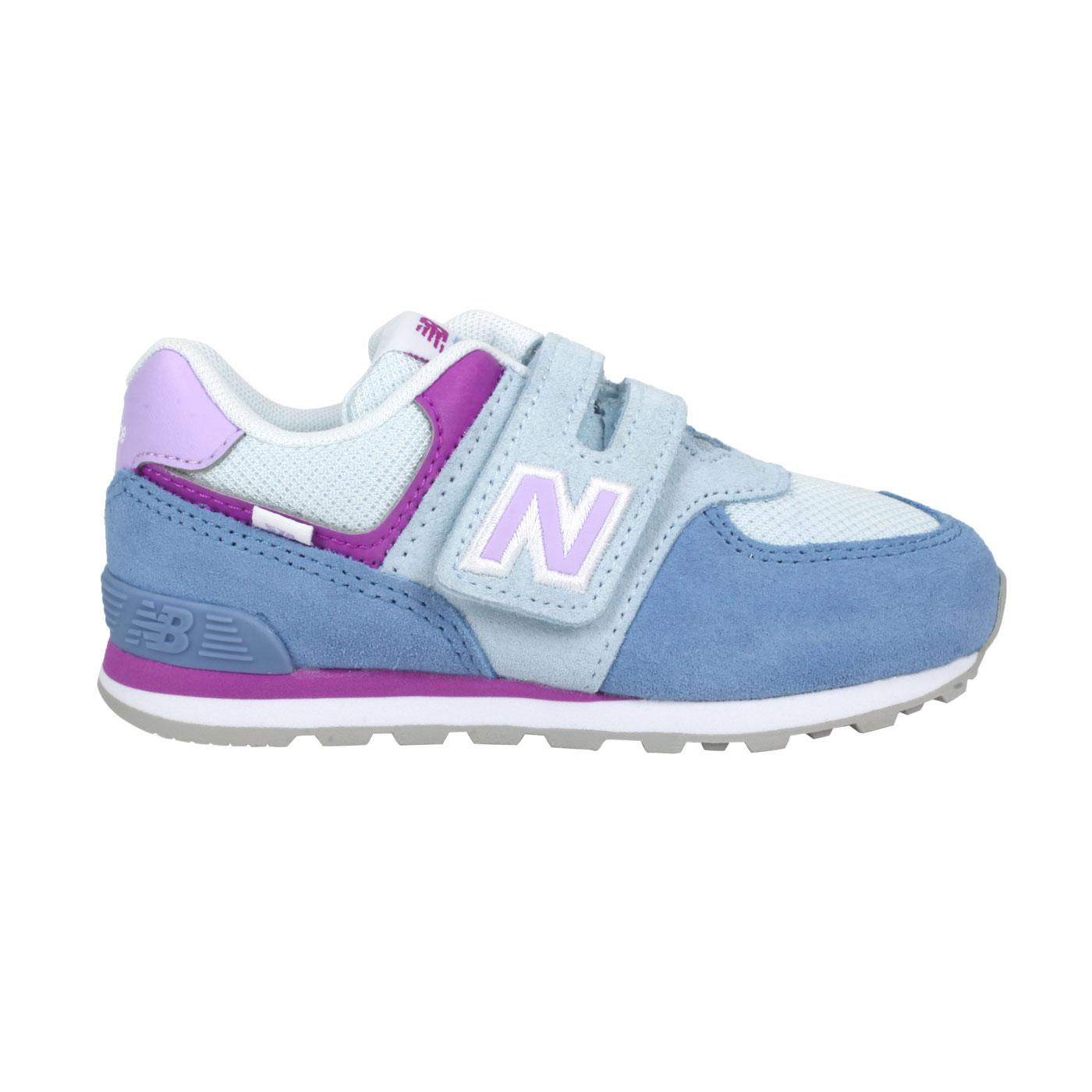 NEW BALANCE 小童休閒運動鞋-WIDE IV574SL2 - 藍紫白