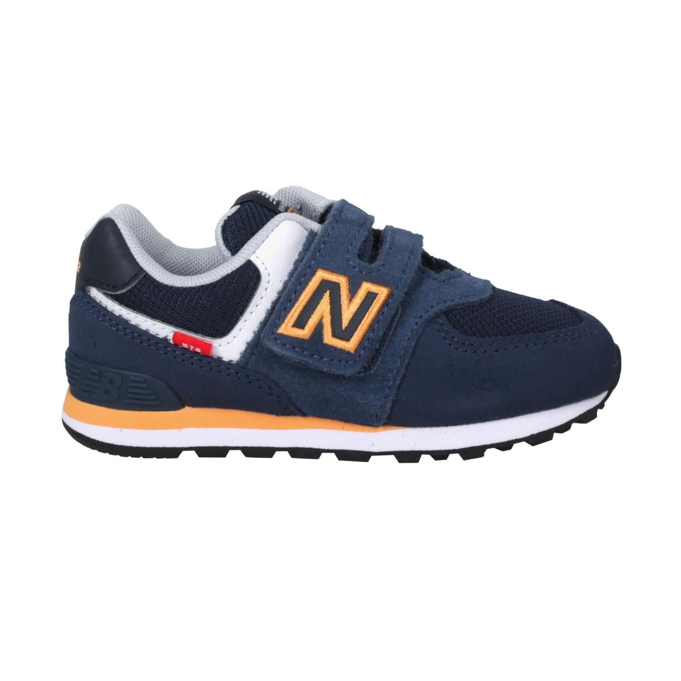 NEW BALANCE 小童休閒運動鞋-WIDE IV574SY2 - 深藍橘