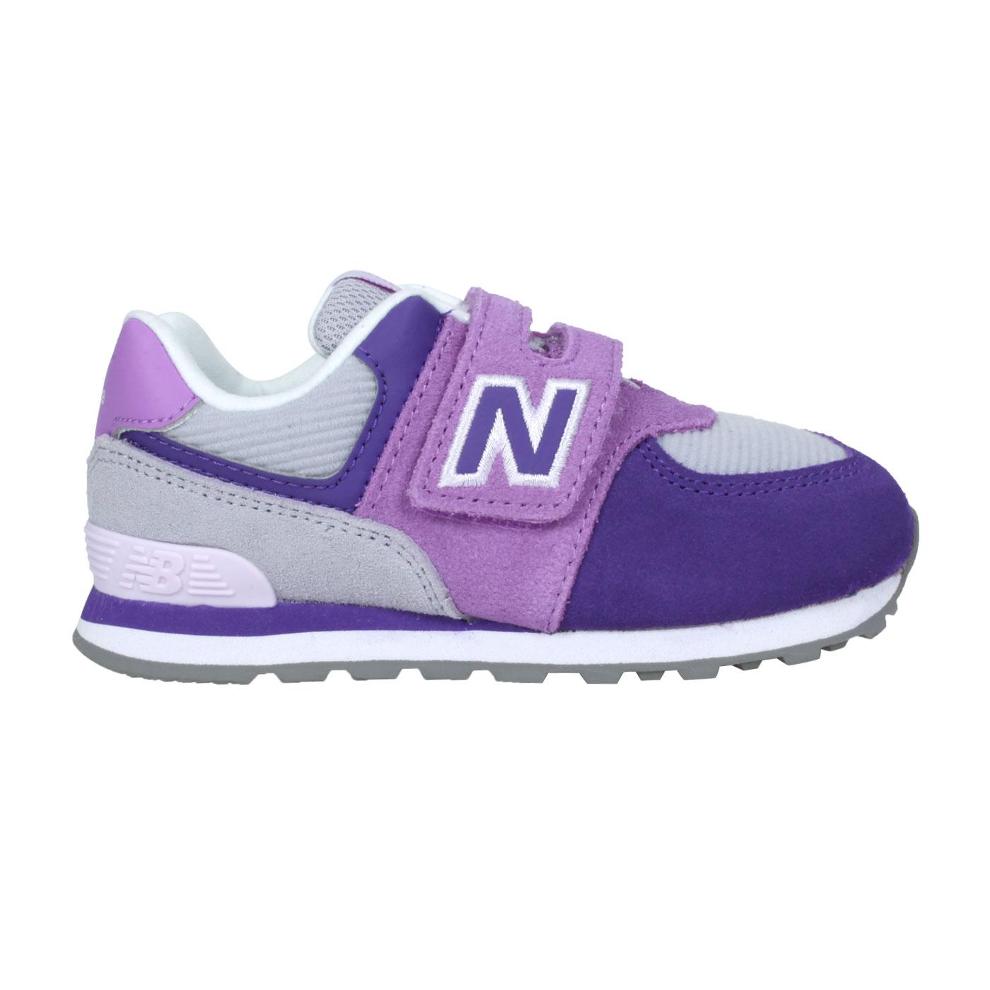 NEW BALANCE 小童休閒運動鞋-WIDE IV574WQ1 - 紫灰