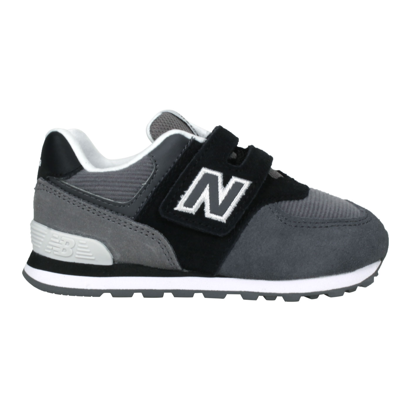 NEW BALANCE 小童休閒運動鞋-WIDE IV574WR1 - 黑灰白