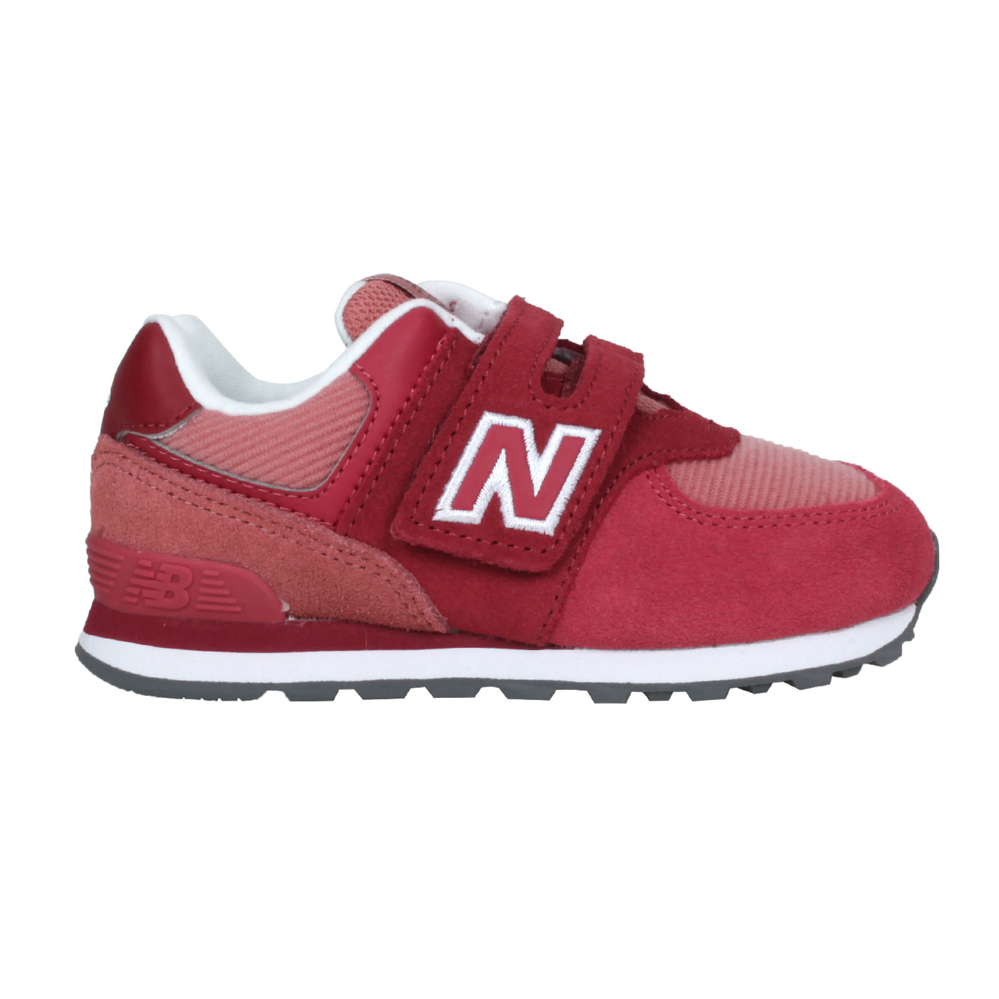 NEW BALANCE 小童休閒運動鞋-WIDE IV574WT1 - 酒紅白