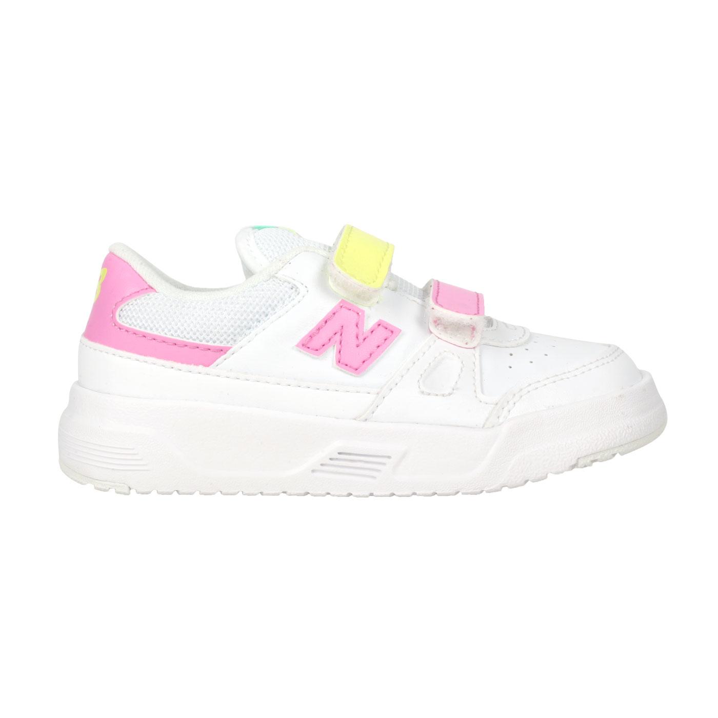 NEW BALANCE 小童運動休閒鞋-WIDE IVCT20WC - 白粉紅黃