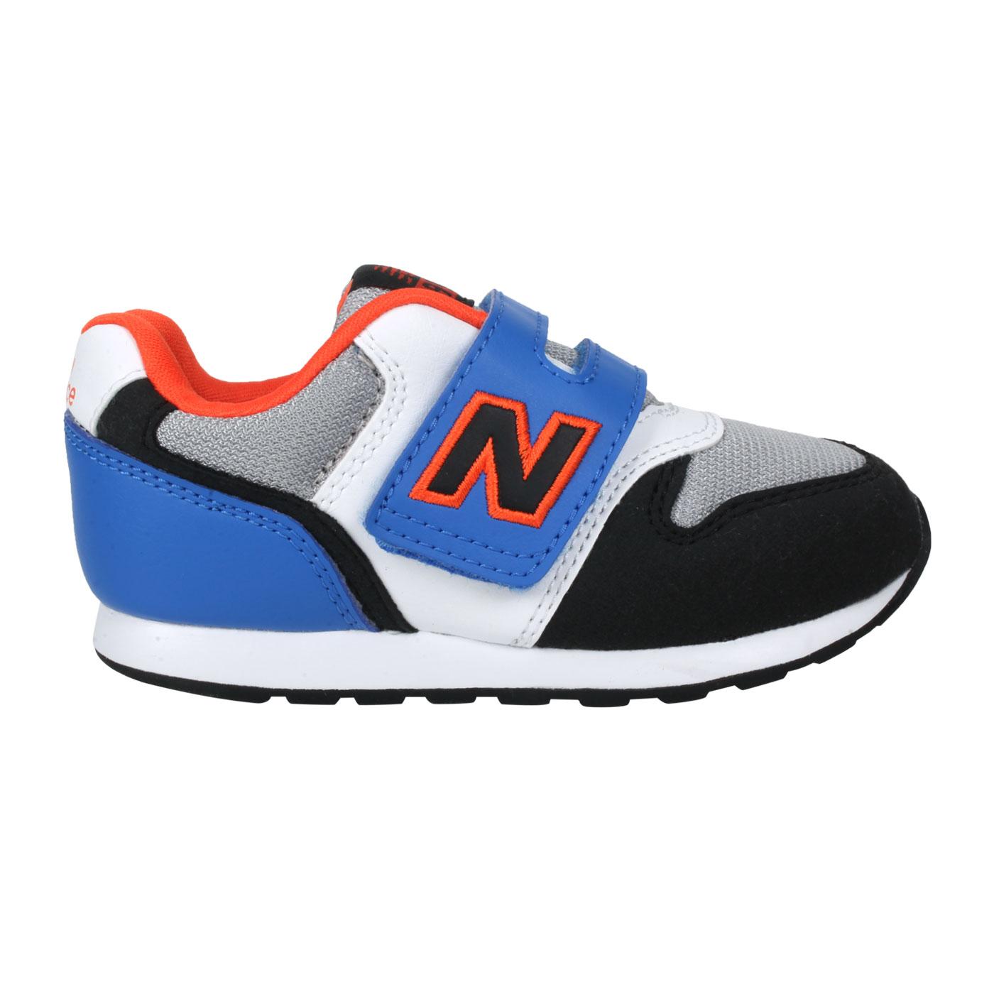 NEW BALANCE 小童休閒運動鞋-WIDE IZ996MBO - 黑白藍橘