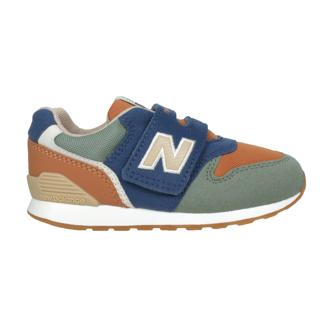 NEW BALANCE 小童休閒運動鞋-WIDE IZ996ON3 - 藍綠棕