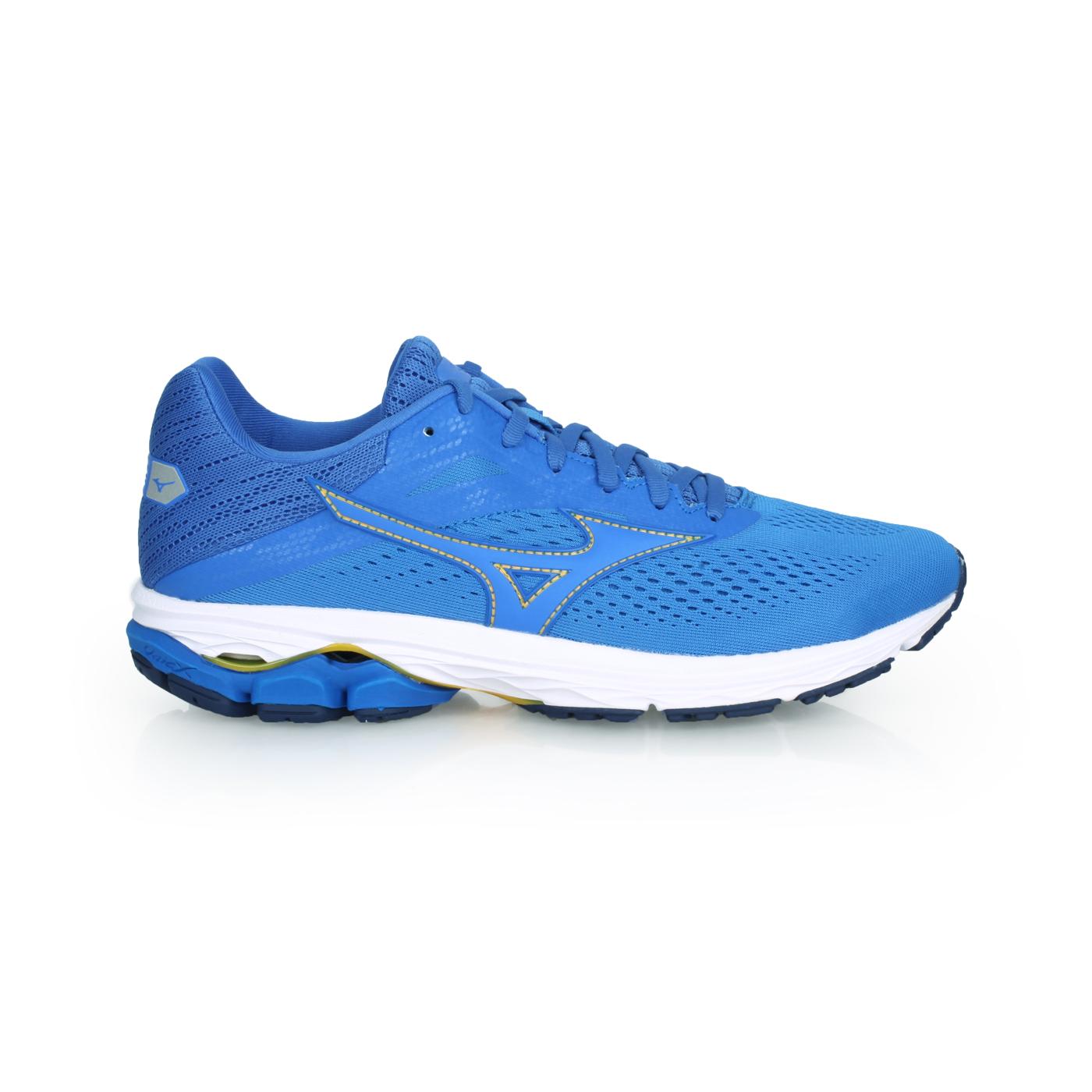 MIZUNO 男款慢跑鞋  @WAVE RIDER 23@J1GC190324 - 藍黃