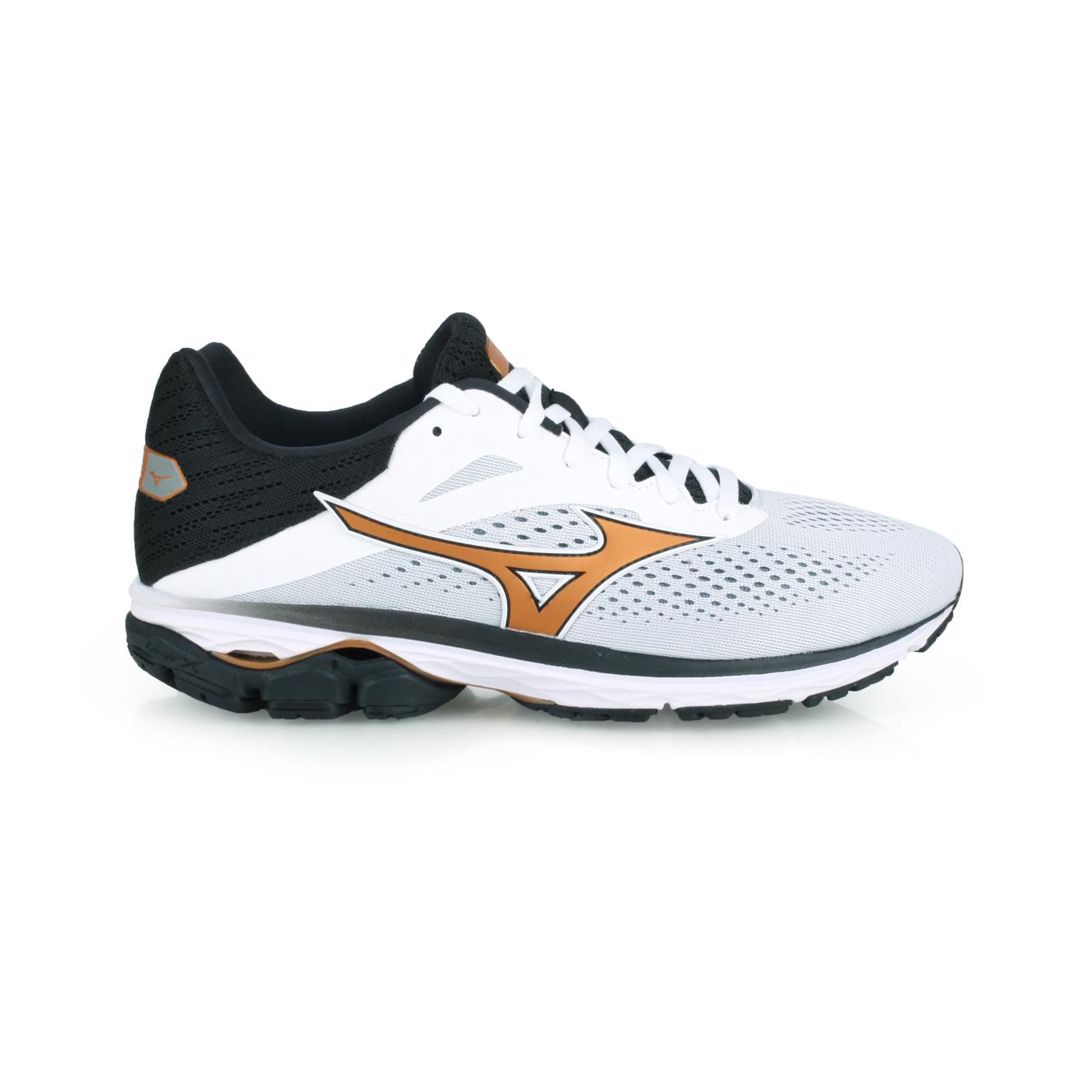 MIZUNO 男款慢跑鞋  @WAVE RIDER 23@J1GC190324 - 灰棕白黑