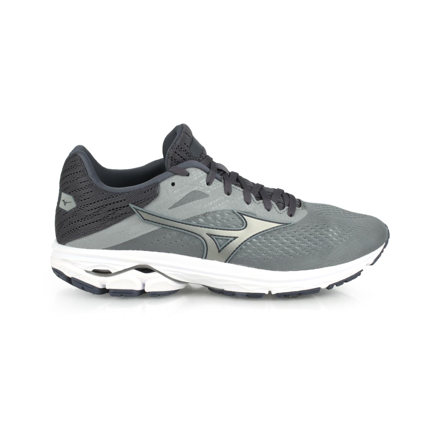 MIZUNO 男款慢跑鞋  @WAVE RIDER 23@J1GC190324 - 灰深灰
