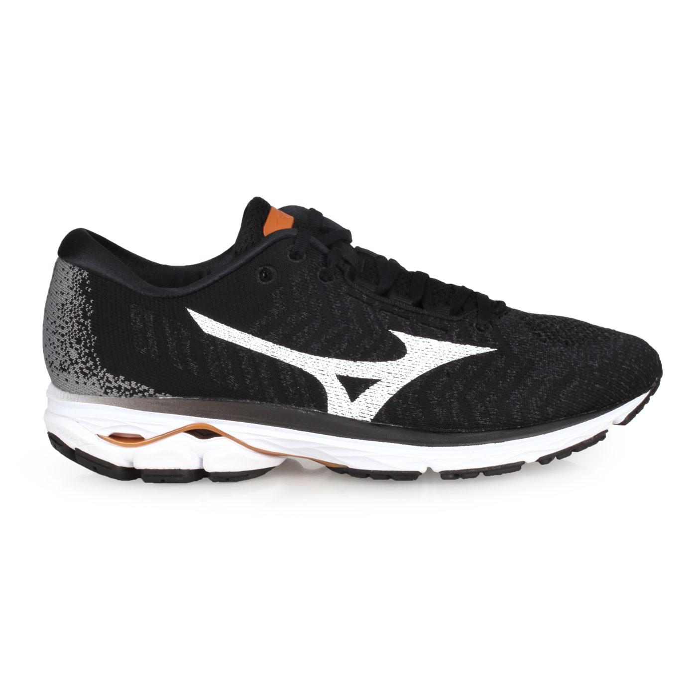 MIZUNO 男款慢跑鞋  @WAVE RIDER WAVEKNIT 3@J1GC192901 - 黑白灰