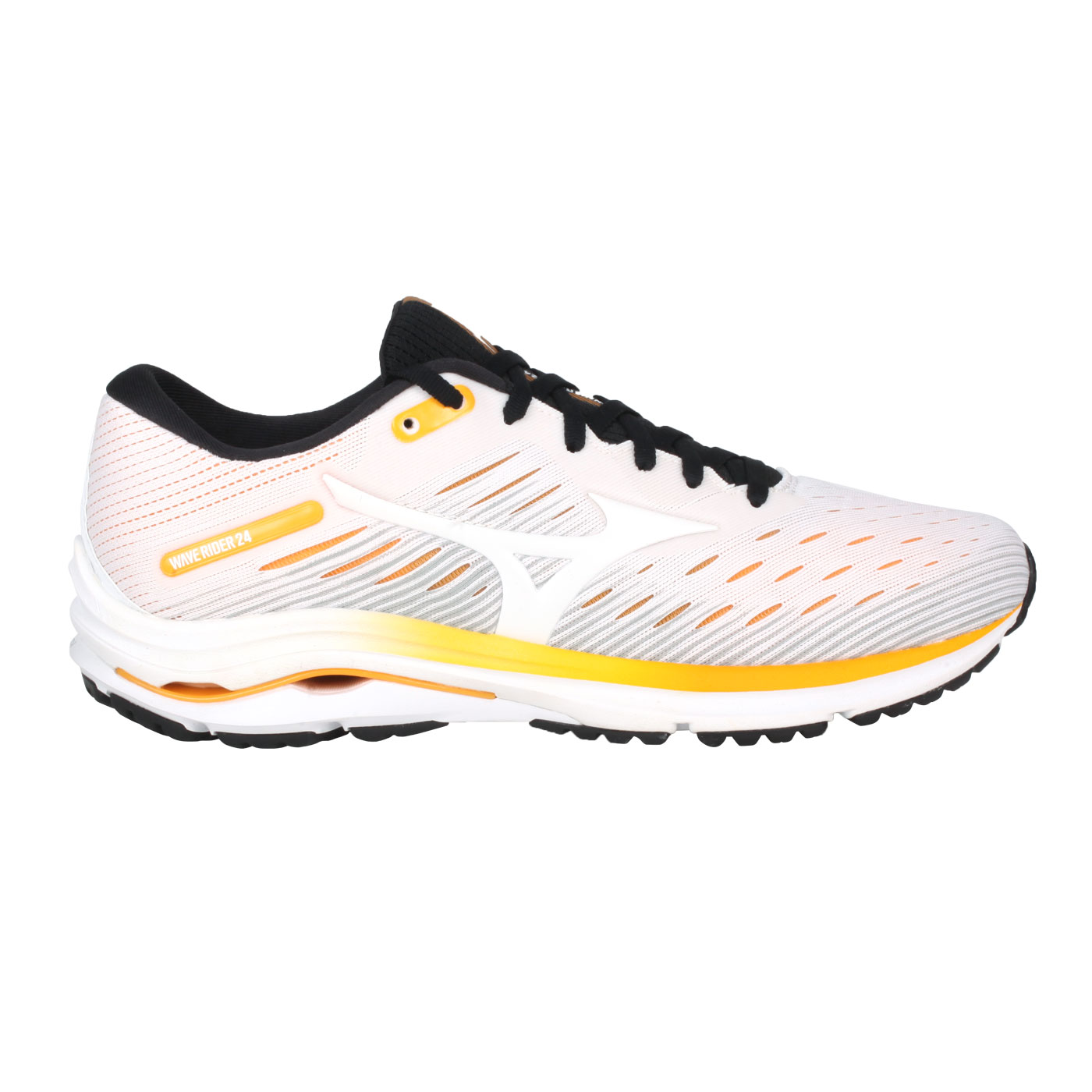 MIZUNO 男慢跑鞋  @WAVE RIDER 24@J1GC200301 - 白黃橘