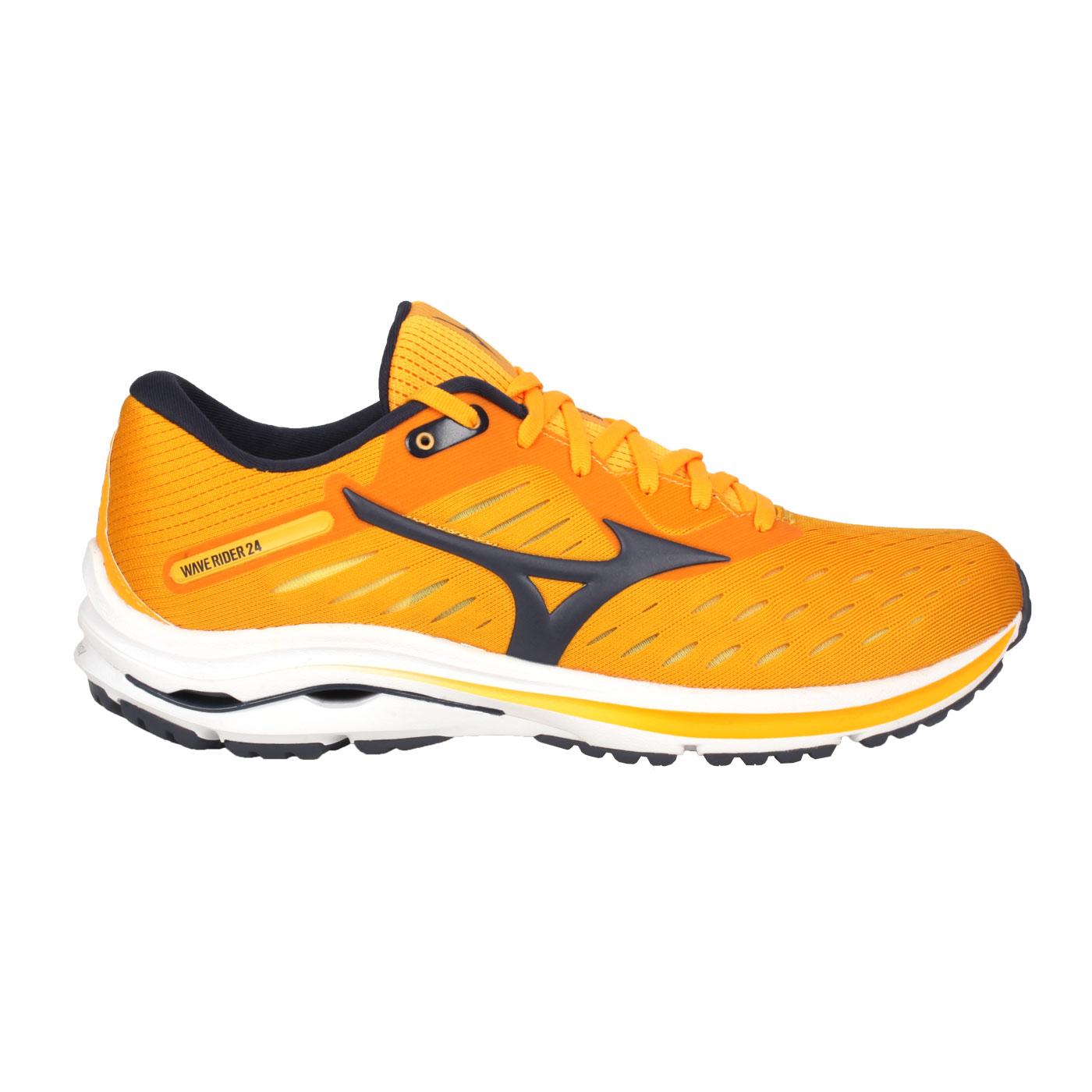 MIZUNO 男慢跑鞋  @WAVE RIDER 24@J1GC200317 - 橘黑
