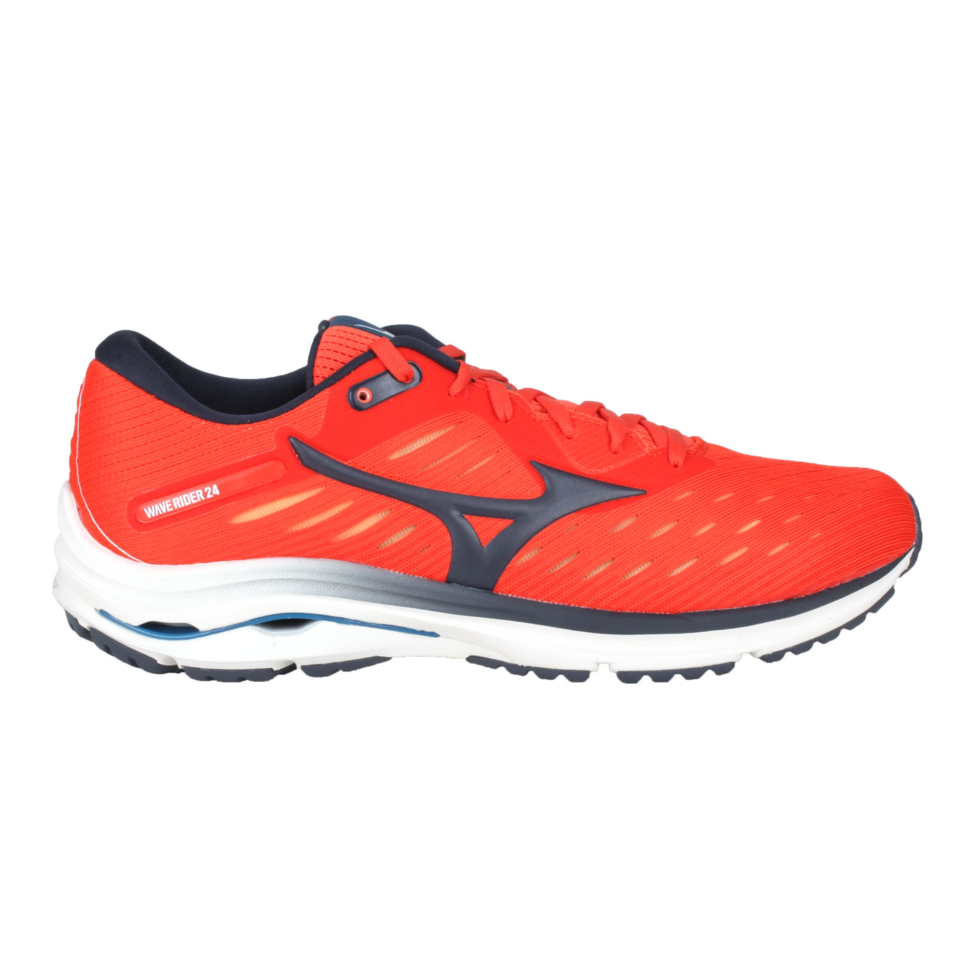 MIZUNO 男慢跑鞋  @WAVE RIDER 24@J1GC200330 - 橘紅黑