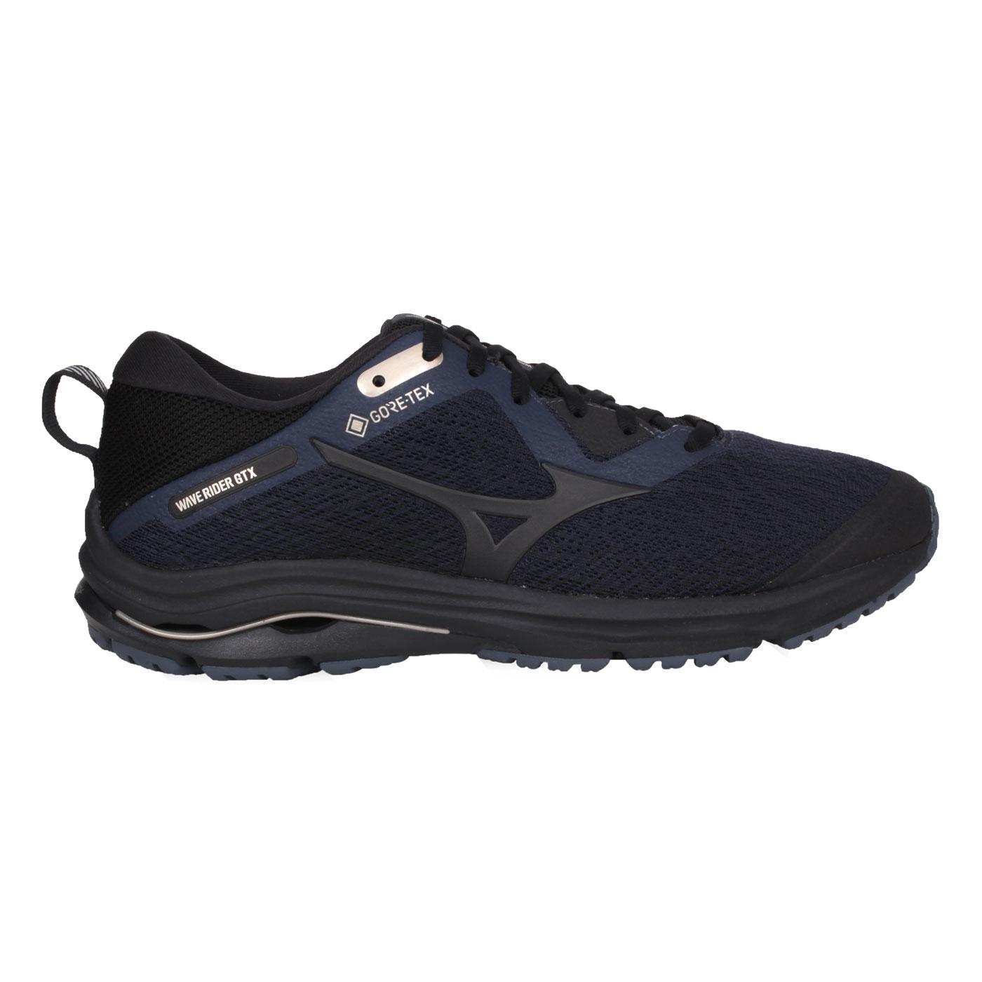 MIZUNO 男款慢跑鞋  @WAVE RIDER GTX@J1GC207910 - 丈青黑