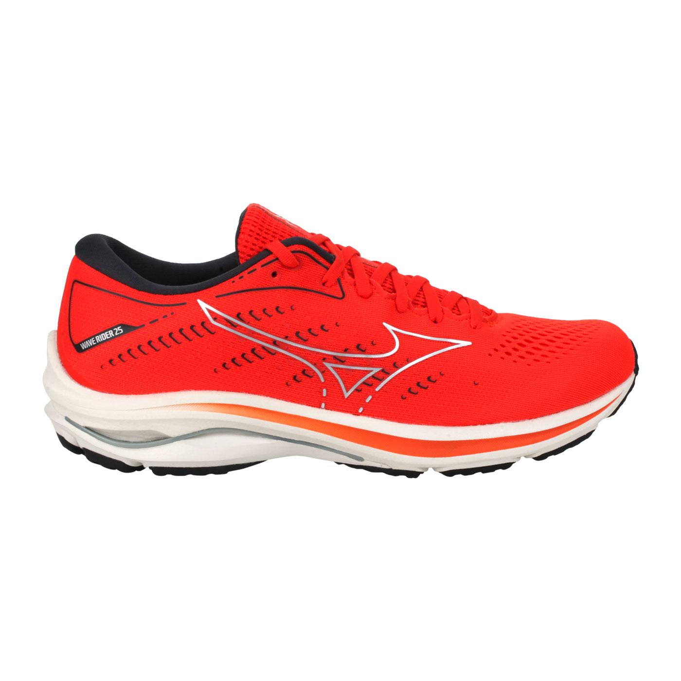 MIZUNO 特定-男款慢跑鞋  @WAVE RIDER 25@J1GC210394 - 橘灰
