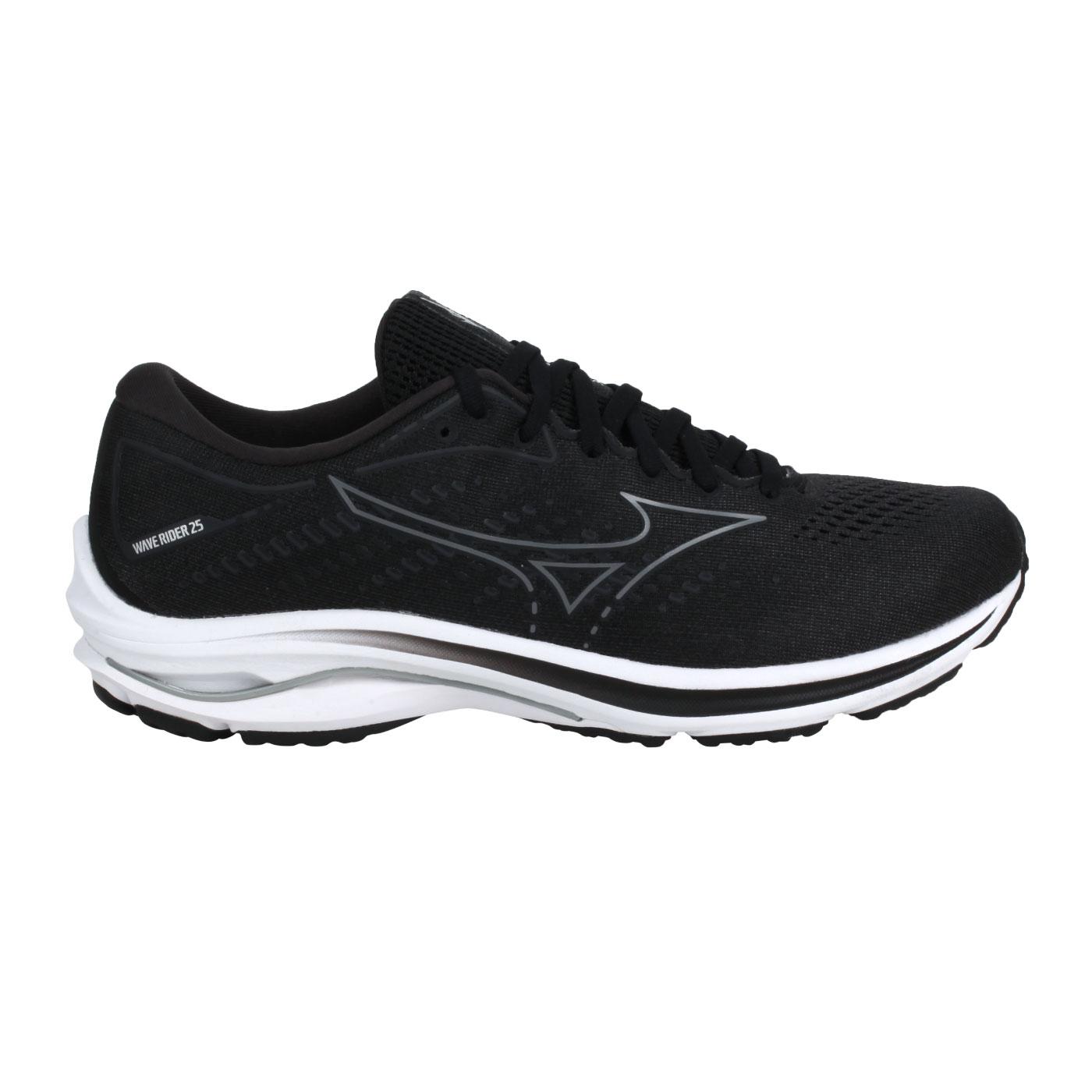 MIZUNO 特定-男款慢跑鞋-2E  @WAVE RIDER 25 SW@J1GC210434 - 黑灰