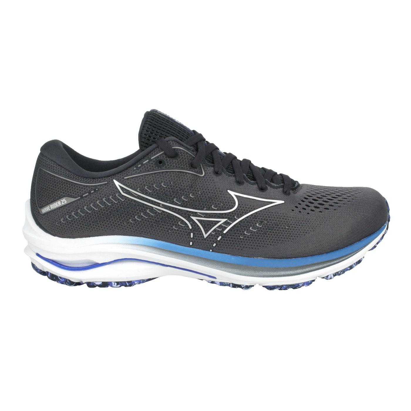 MIZUNO 男款慢跑鞋-4E  @WAVE RIDER 25 SW@J1GC210493 - 灰銀藍紫