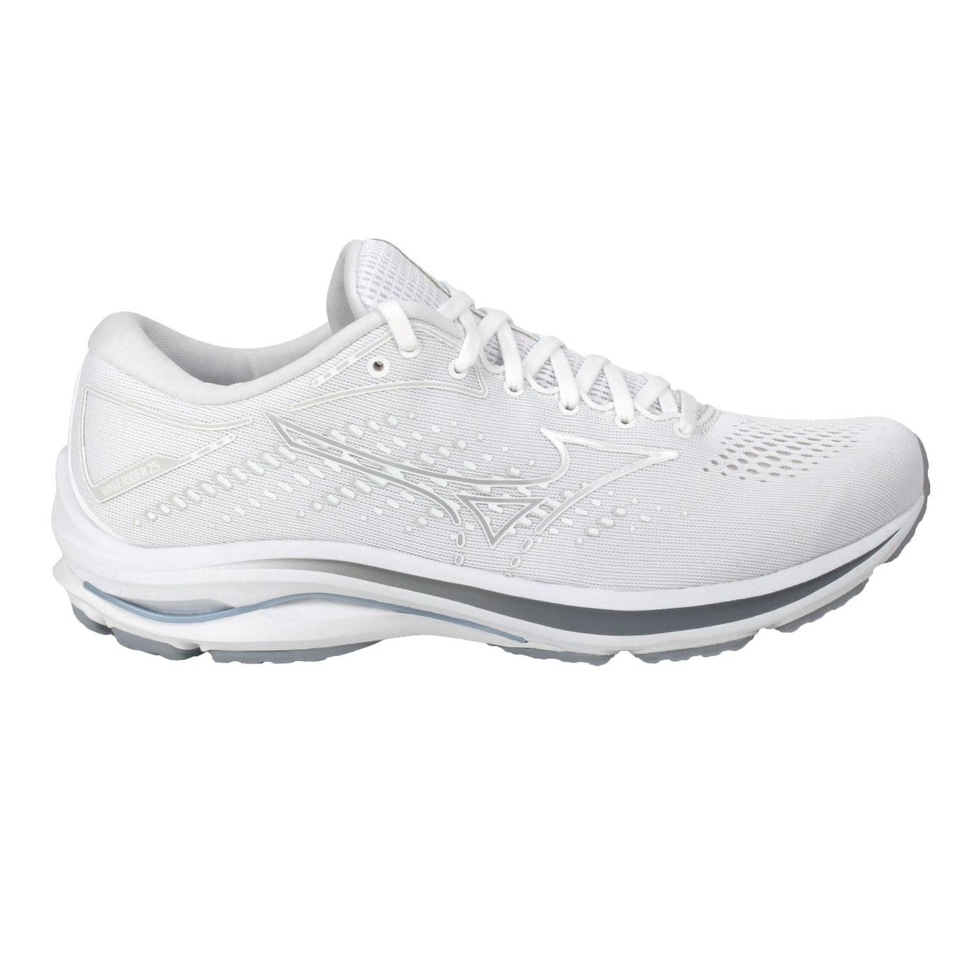 MIZUNO 男款慢跑鞋-4E  @WAVE RIDER 25 SW@J1GC210496 - 白灰藍