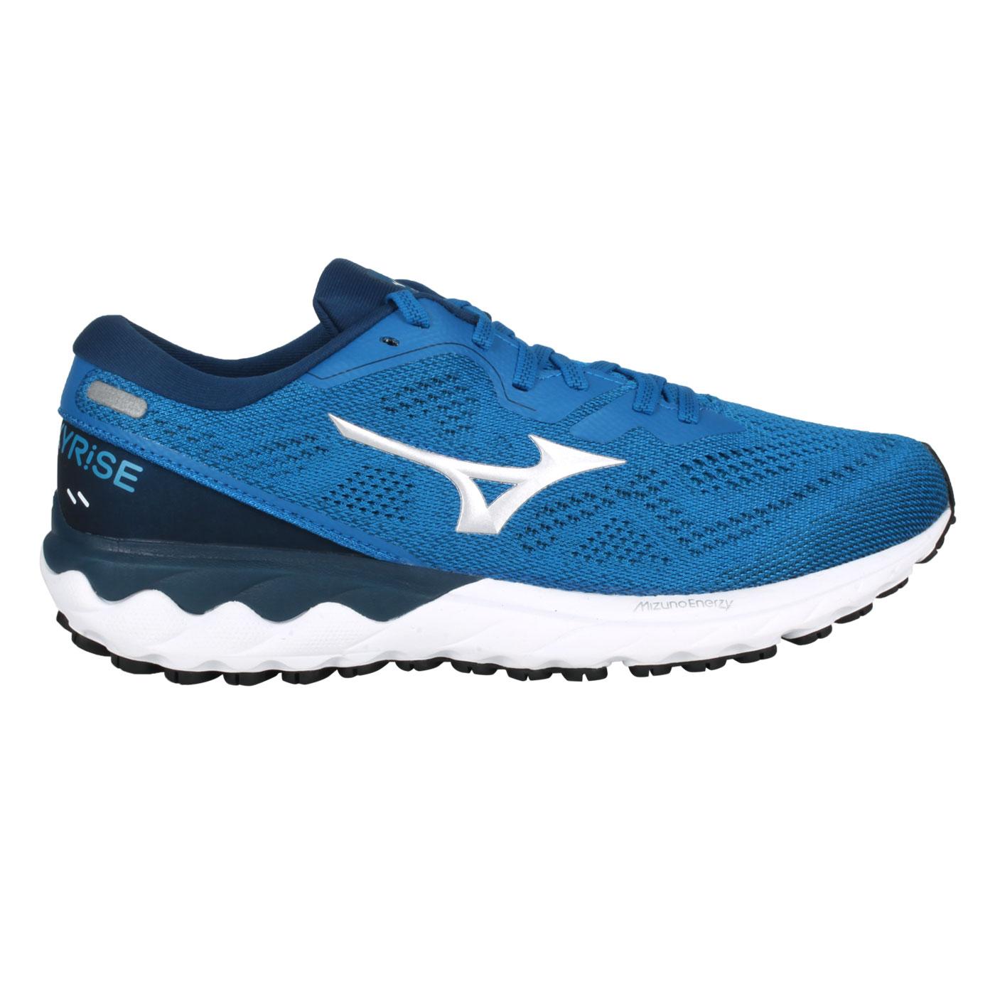 MIZUNO 男款慢跑鞋  @WAVE SKYRISE 2@J1GC210904 - 丈青藍銀