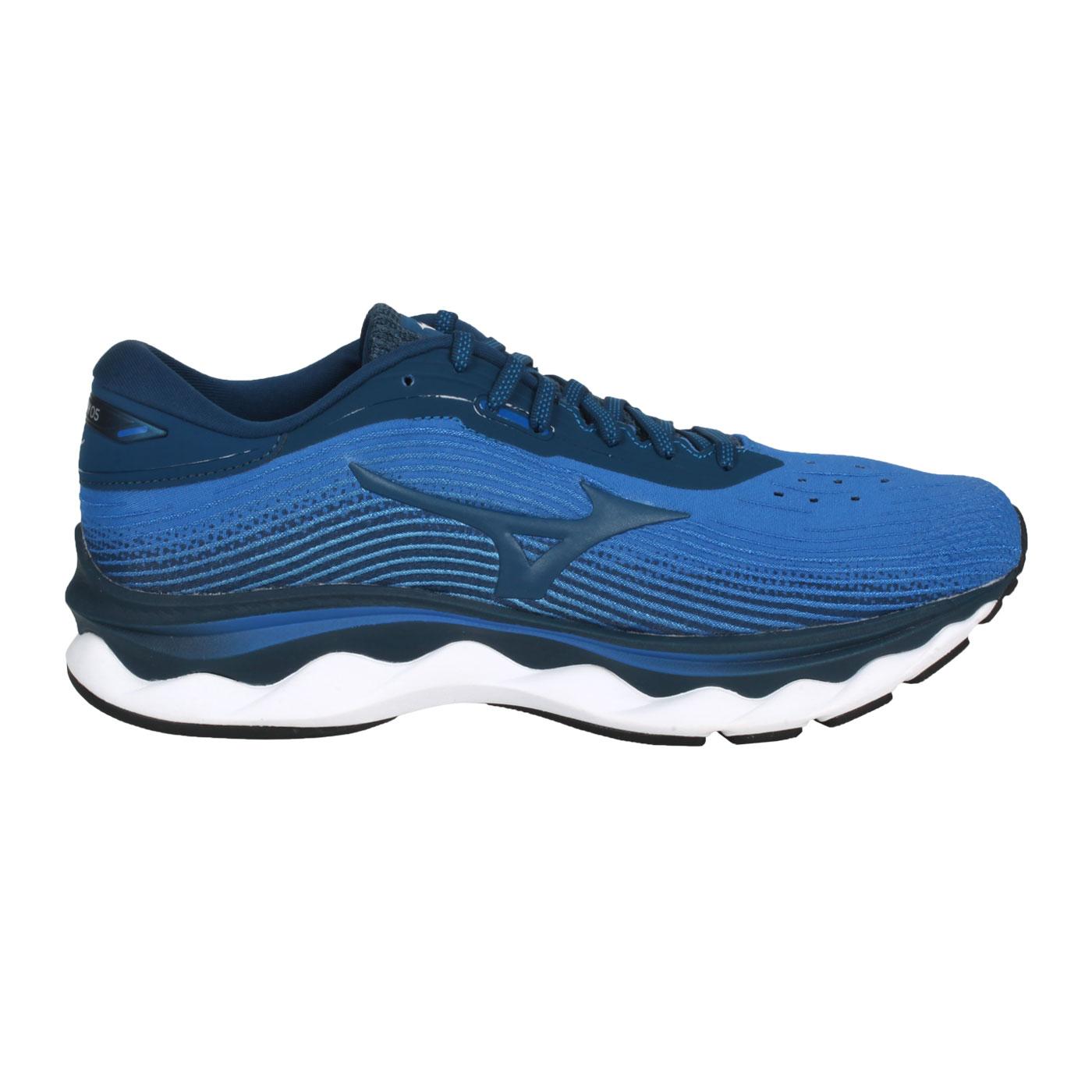 MIZUNO 男款慢跑鞋-4E  @WAVE SKY 5 SW@J1GC211184 - 藍綠