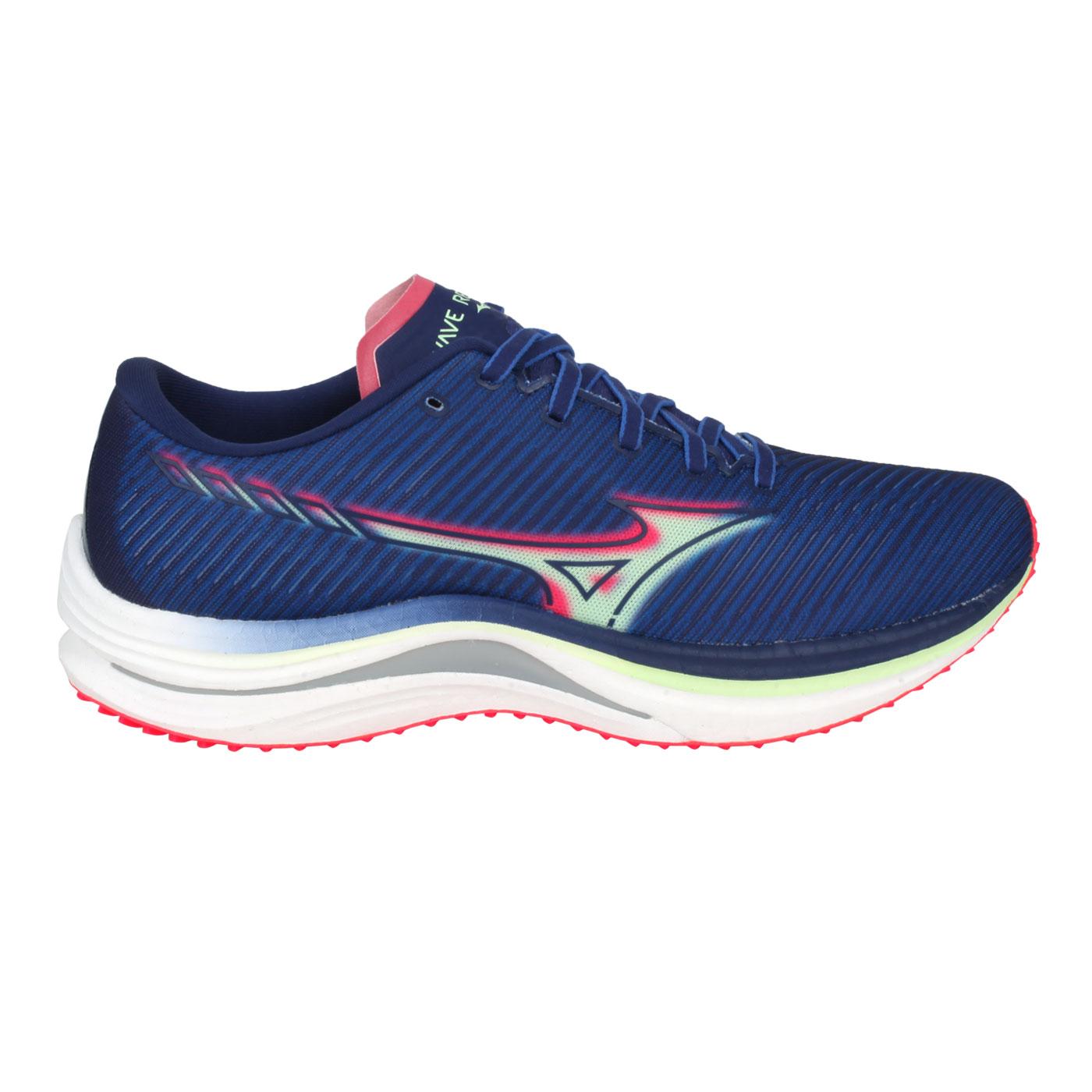 MIZUNO 男款路跑鞋  @WAVE REBELLION@J1GC211783 - 藍綠紅