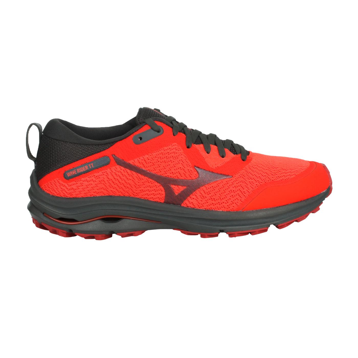 MIZUNO 男款慢跑鞋  @WAVE RIDER TT@J1GC213215 - 深灰橘