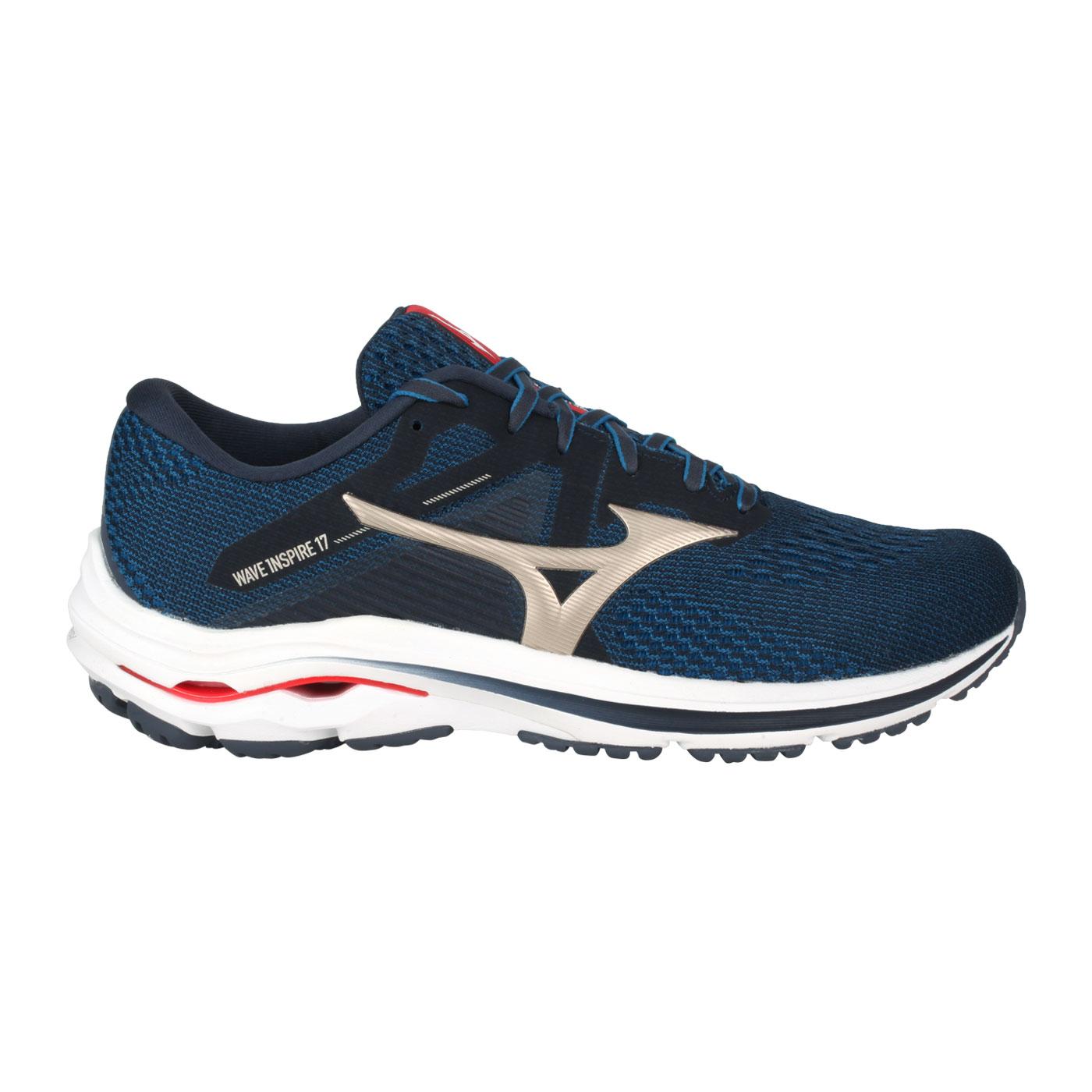 MIZUNO 男慢跑鞋-4E  @WAVE INSPIRE 17 SW@J1GC214542 - 藍香檳金